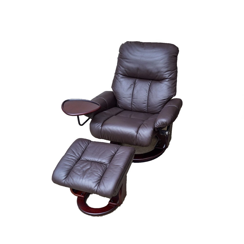Benchmaster Swivel Rocker Easy Chair and Ottoman