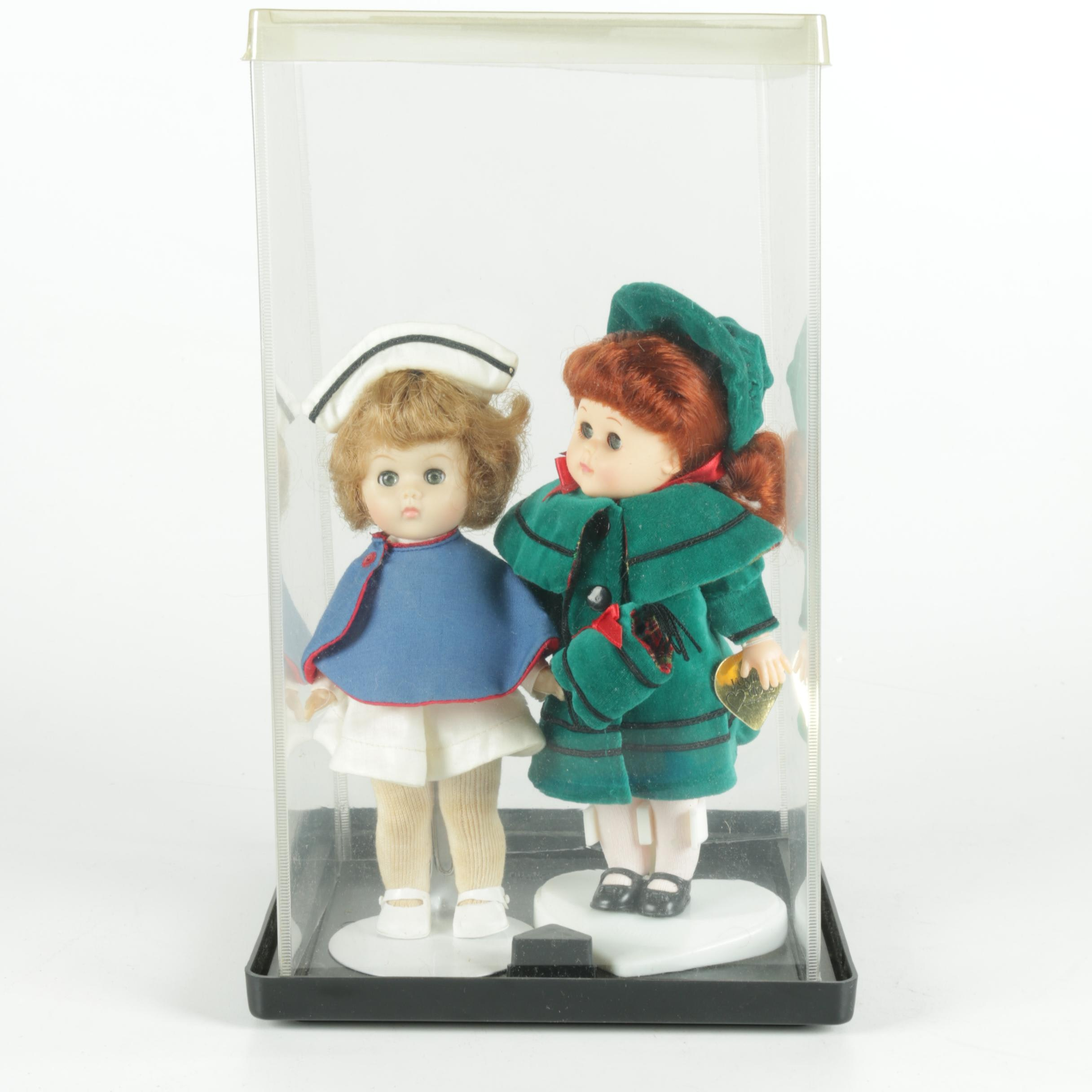 Vintage Collectible Dolls with Stands