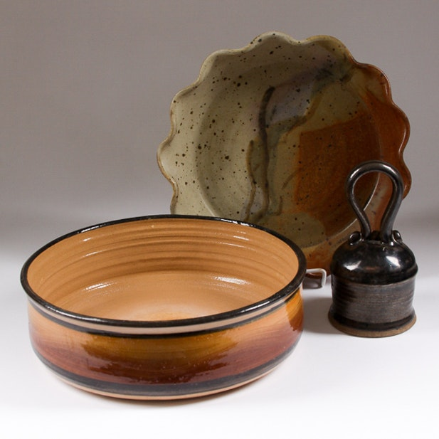 Collection of Hand Thrown Decorative and Functional Stoneware