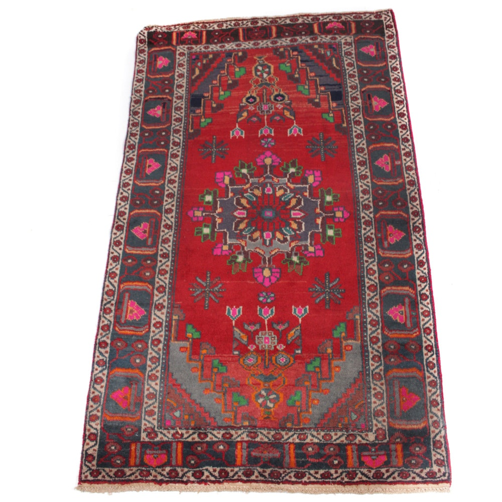 Hand-Knotted Vintage Persian Malayer Sarouk Rug