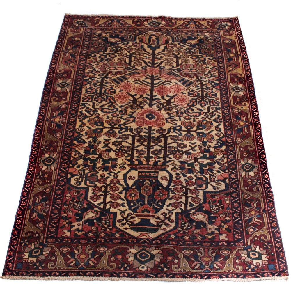 Hand-Knotted Persian Caucasian Area Rug