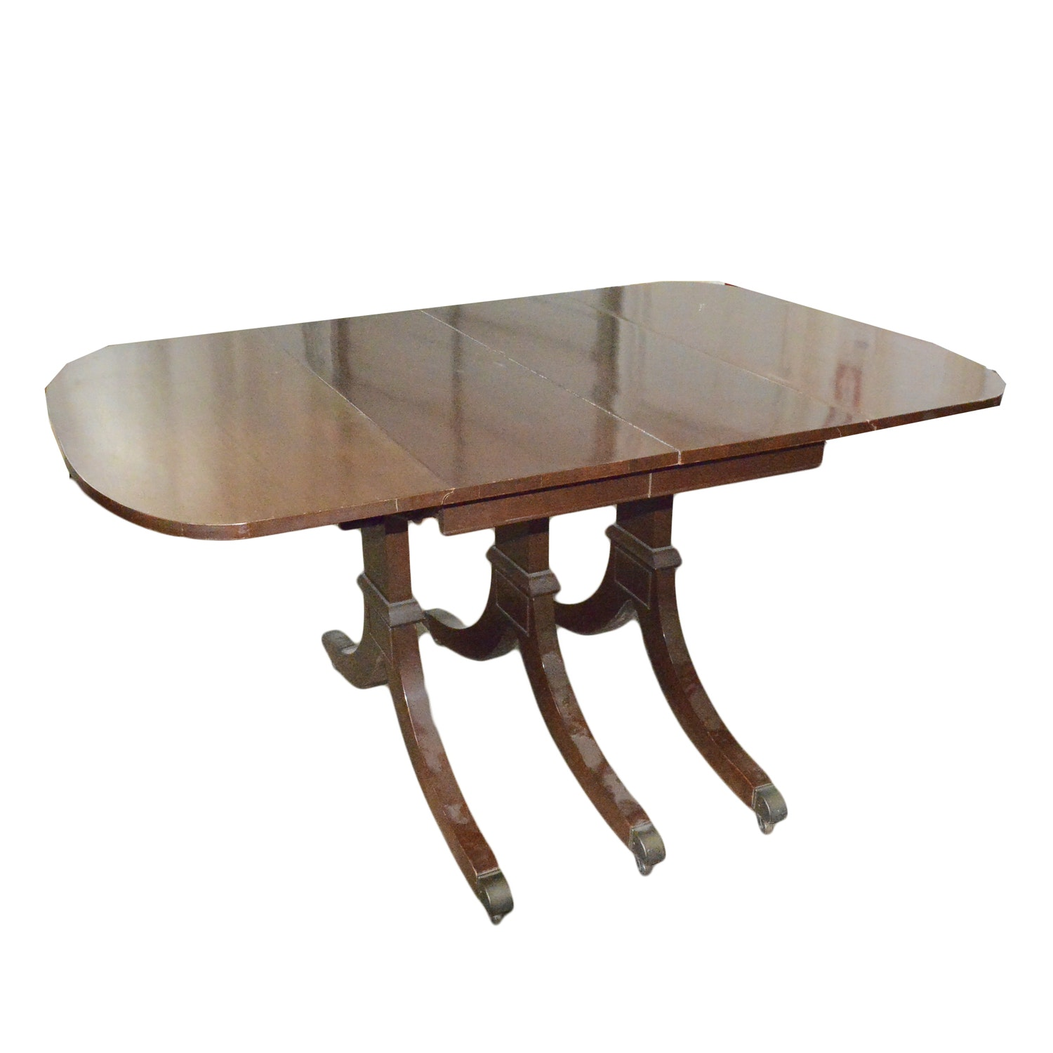 Vintage Duncan Phyfe Style Mahogany Drop Leaf Dining Table By Craddock ...