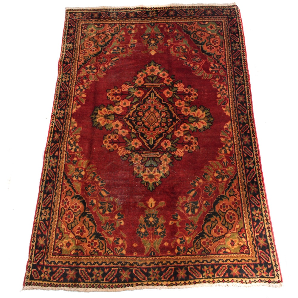 Semi-Antique Persian Mahal Area Rug