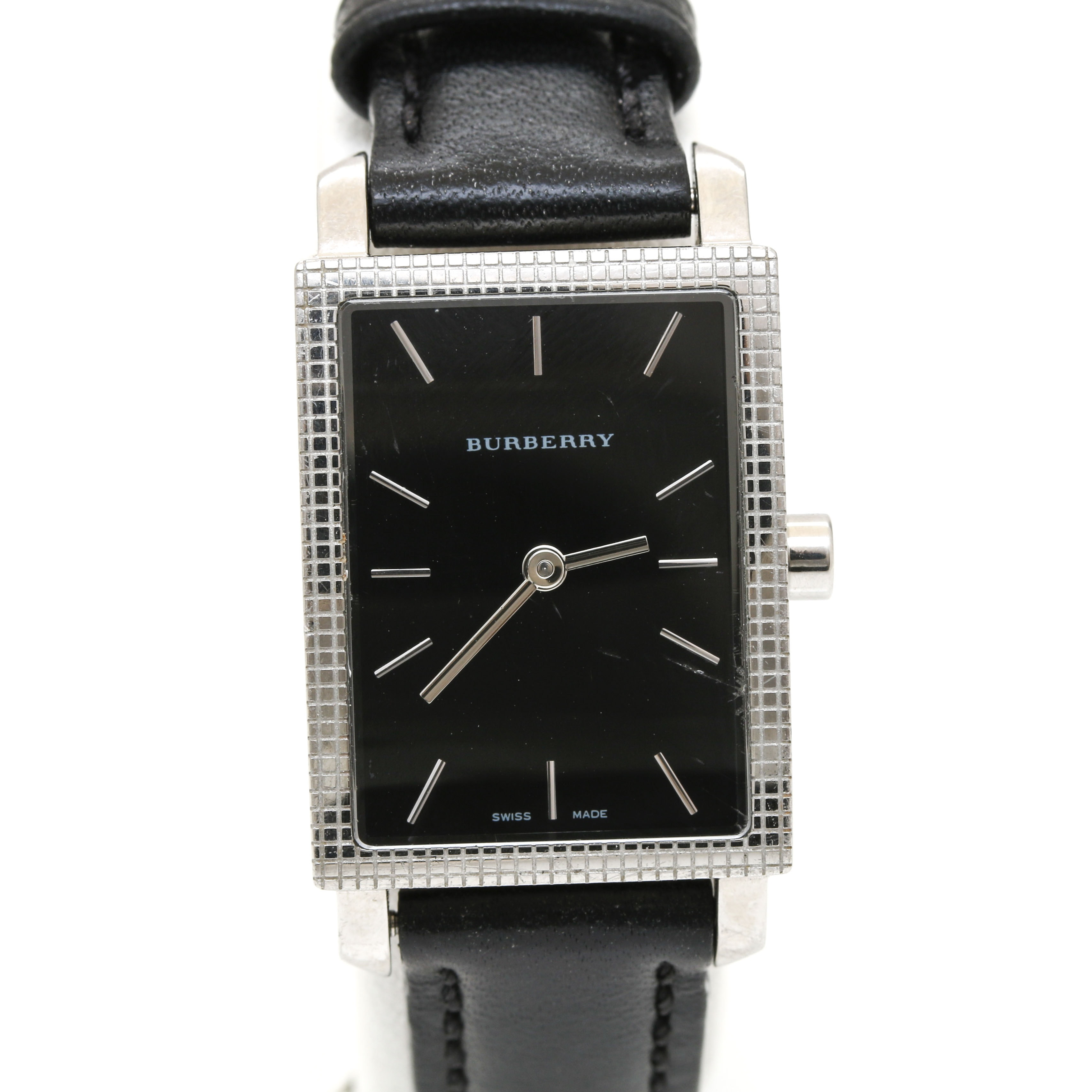 Burberry Stainless Steel and Leather Strap Wristwatch