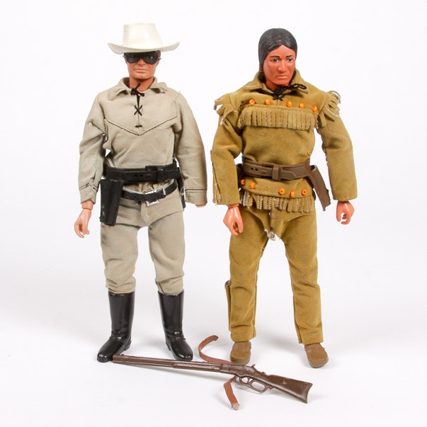 1973 Lone Ranger and Tonto Action Figures