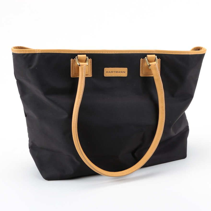 Hartmann Canvas And Leather Tote Bag