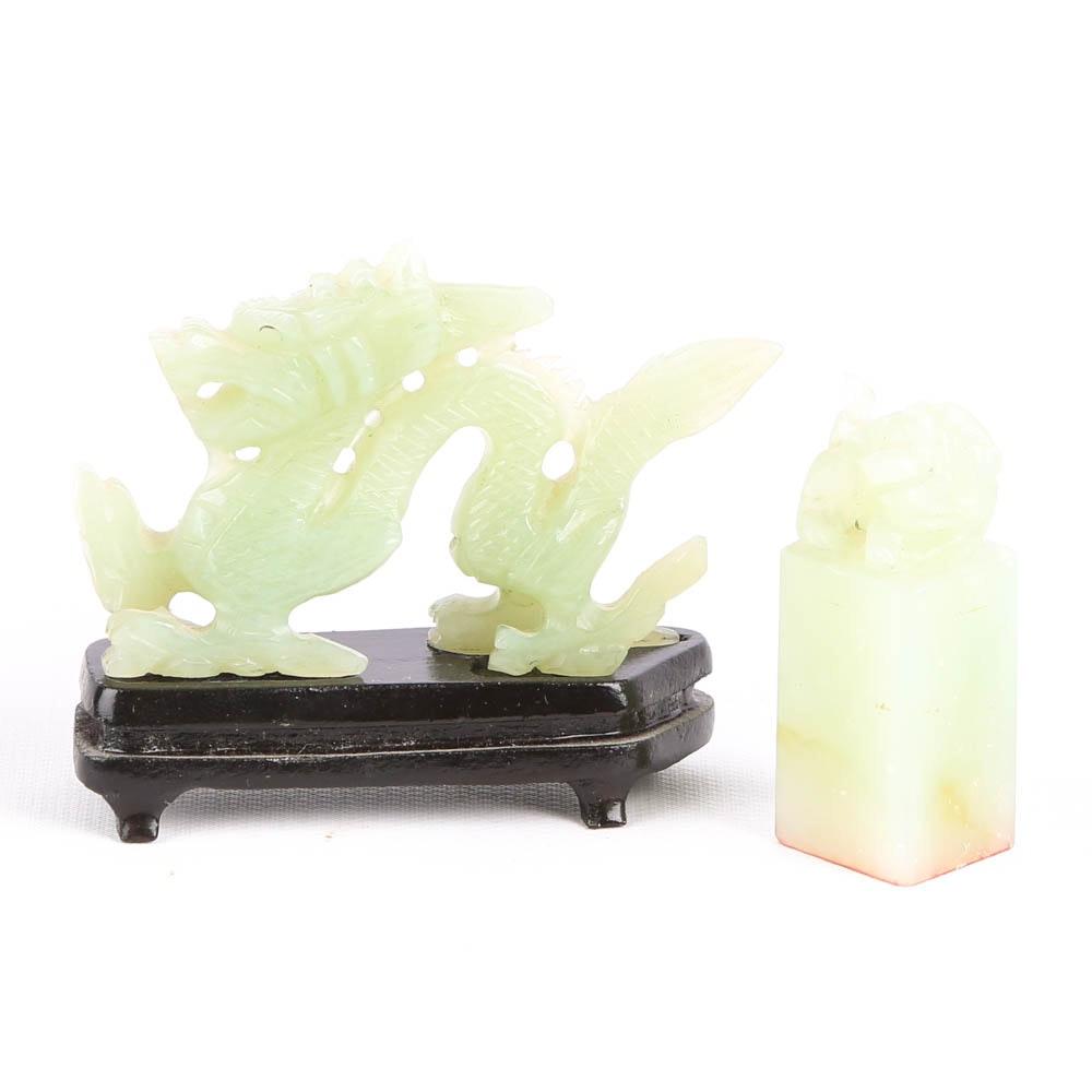 Carved Jadeite Figurines