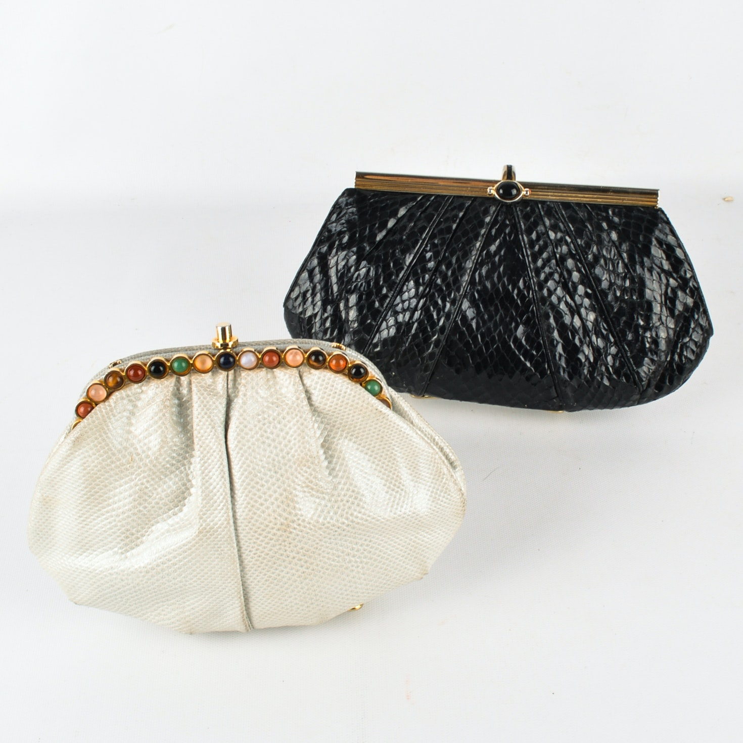 Two Judith Leiber Clutch Handbags