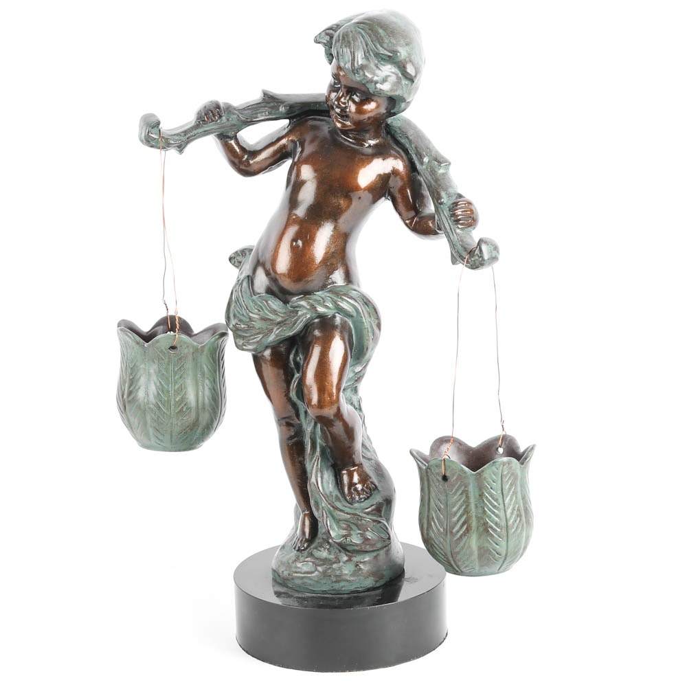 Resin Cherub Sculpture