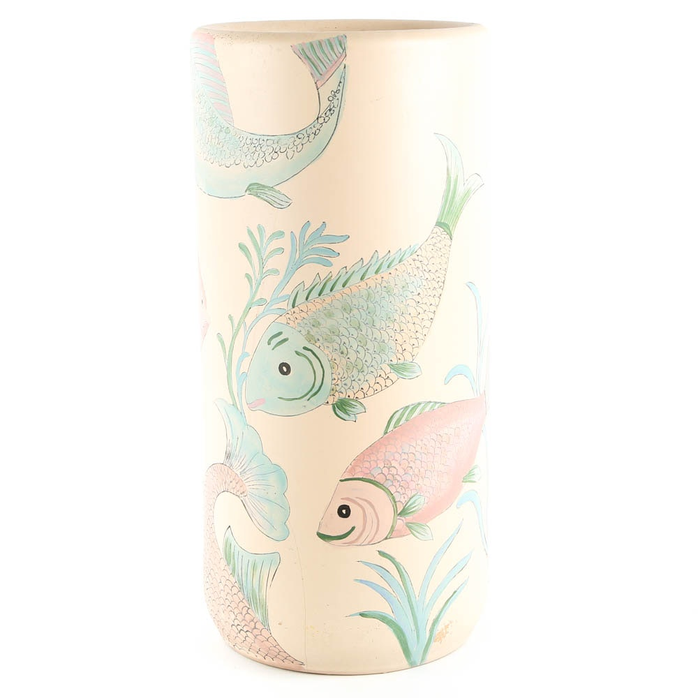 Ceramic Fish Umbrella Stand
