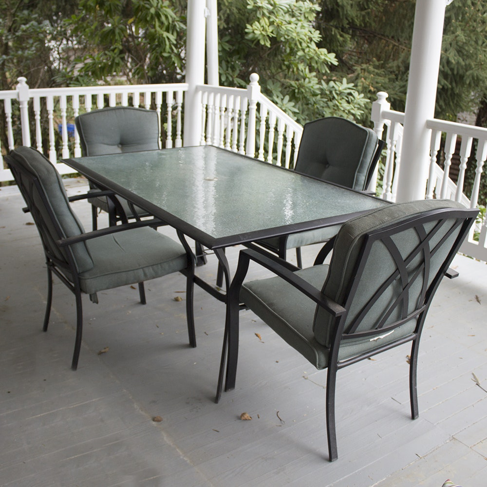 Outdoor Dining Table with Four Chairs