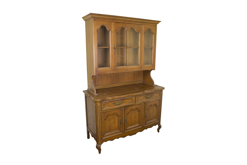 Maple Step-Back Cabinet by J.B. Van Sciver Co.