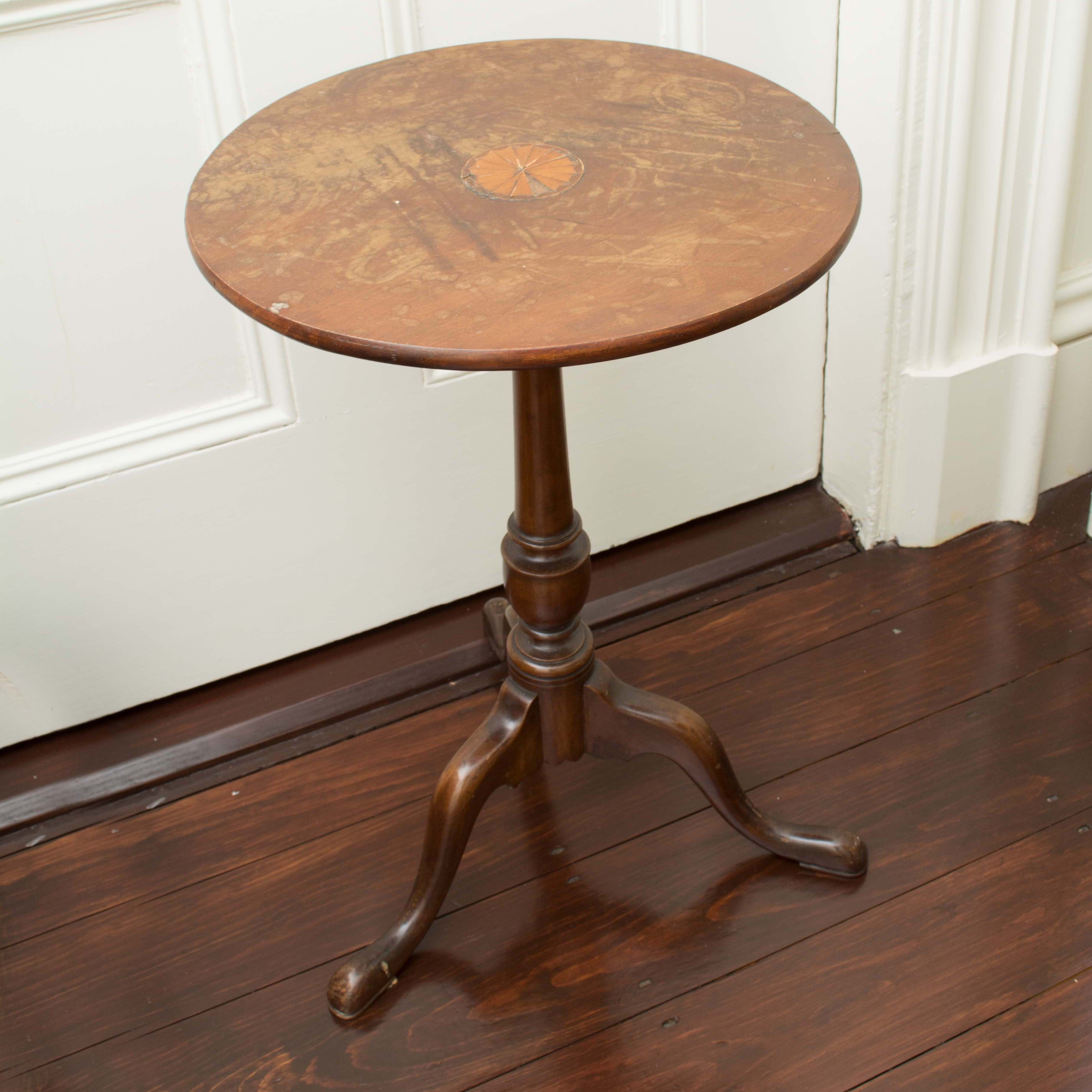 Vintage Queen Anne Style Mahogany Tea Table