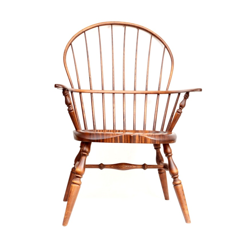 Hand Crafted Windsor Chair By J Brown Of Maine Ebth