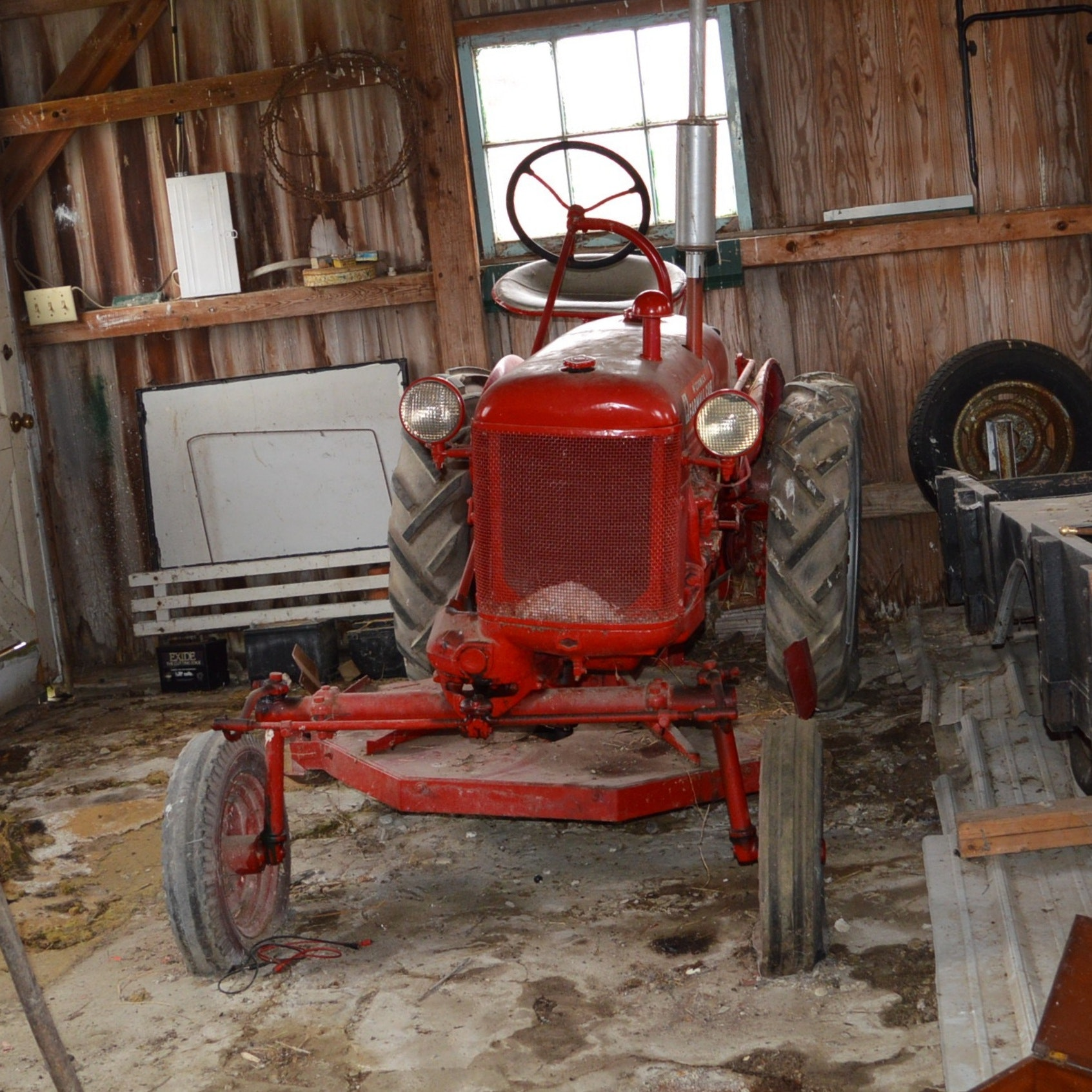 1952 McCormick Farmall Cub Lo- Boy Tractor with Woods Mowing Deck