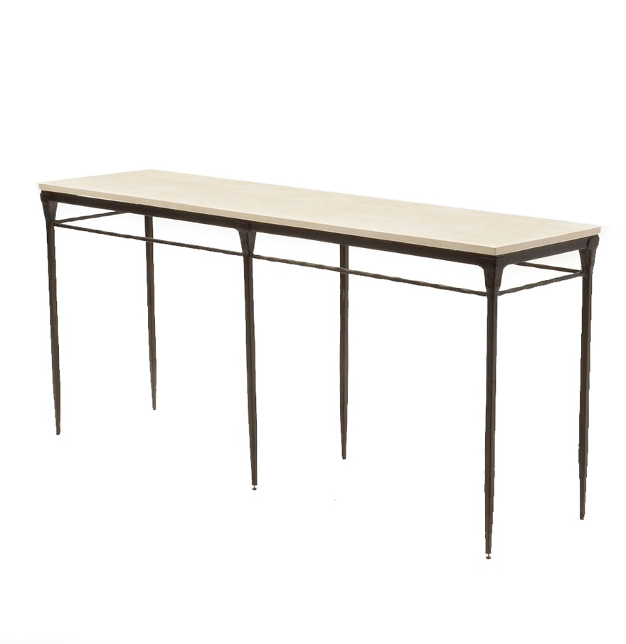 Berhardt desmond stone top console table ebth berhardt desmond stone top console table geotapseo Gallery