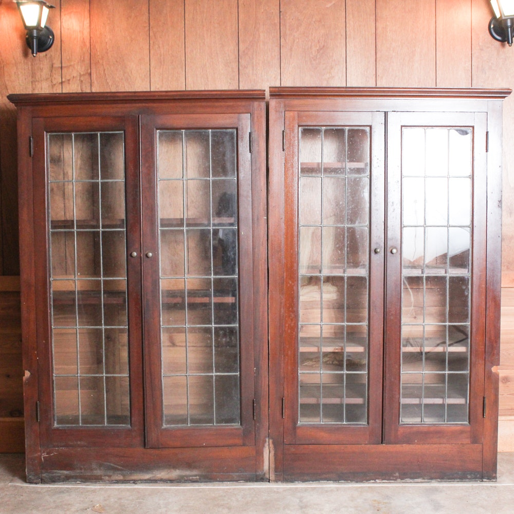 Antique Arts and Crafts Bookcase Pair
