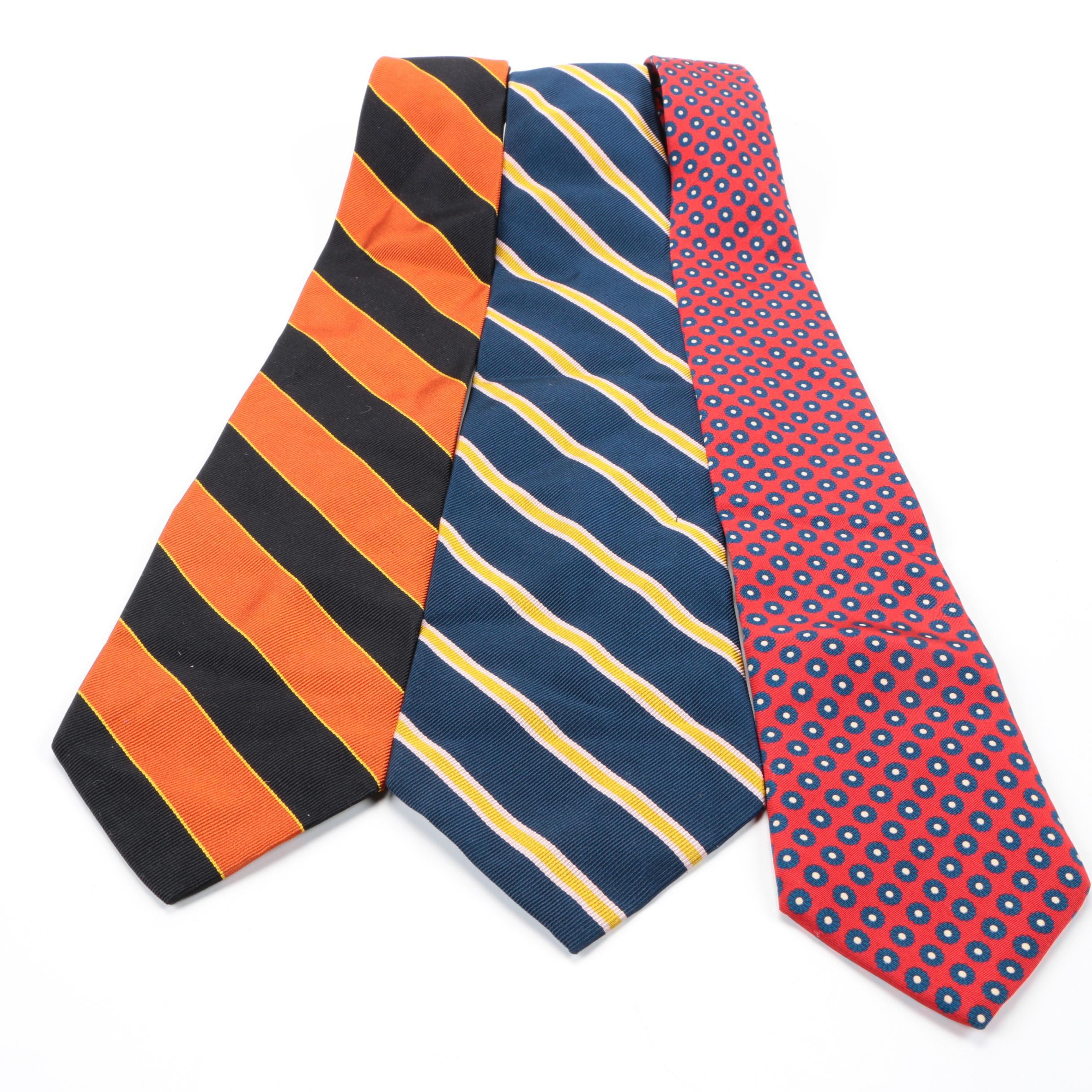 Vintage 1970s Cerruti-CXIII Silk Neckties