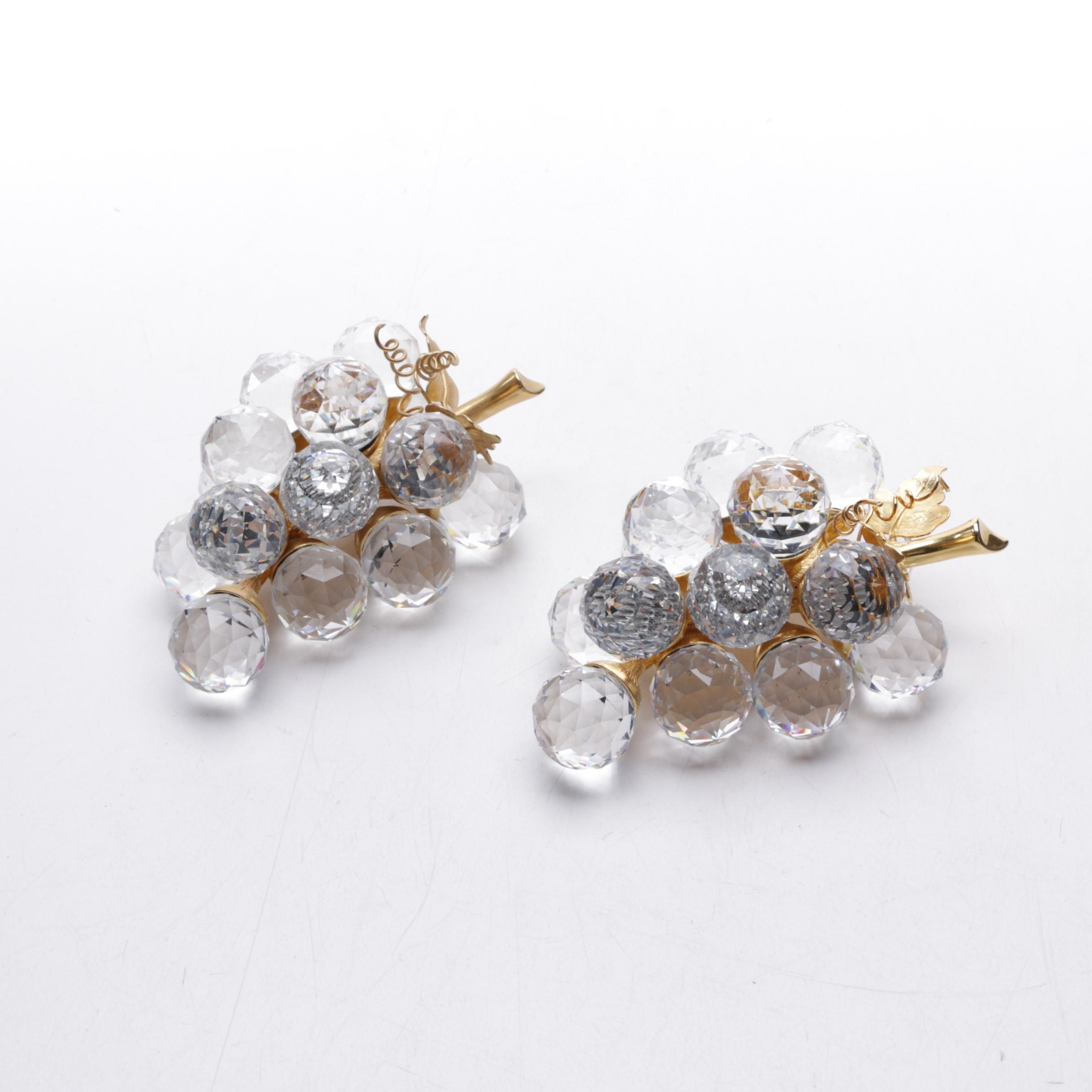 Swarovski Decorative Crystal Grape Bunches