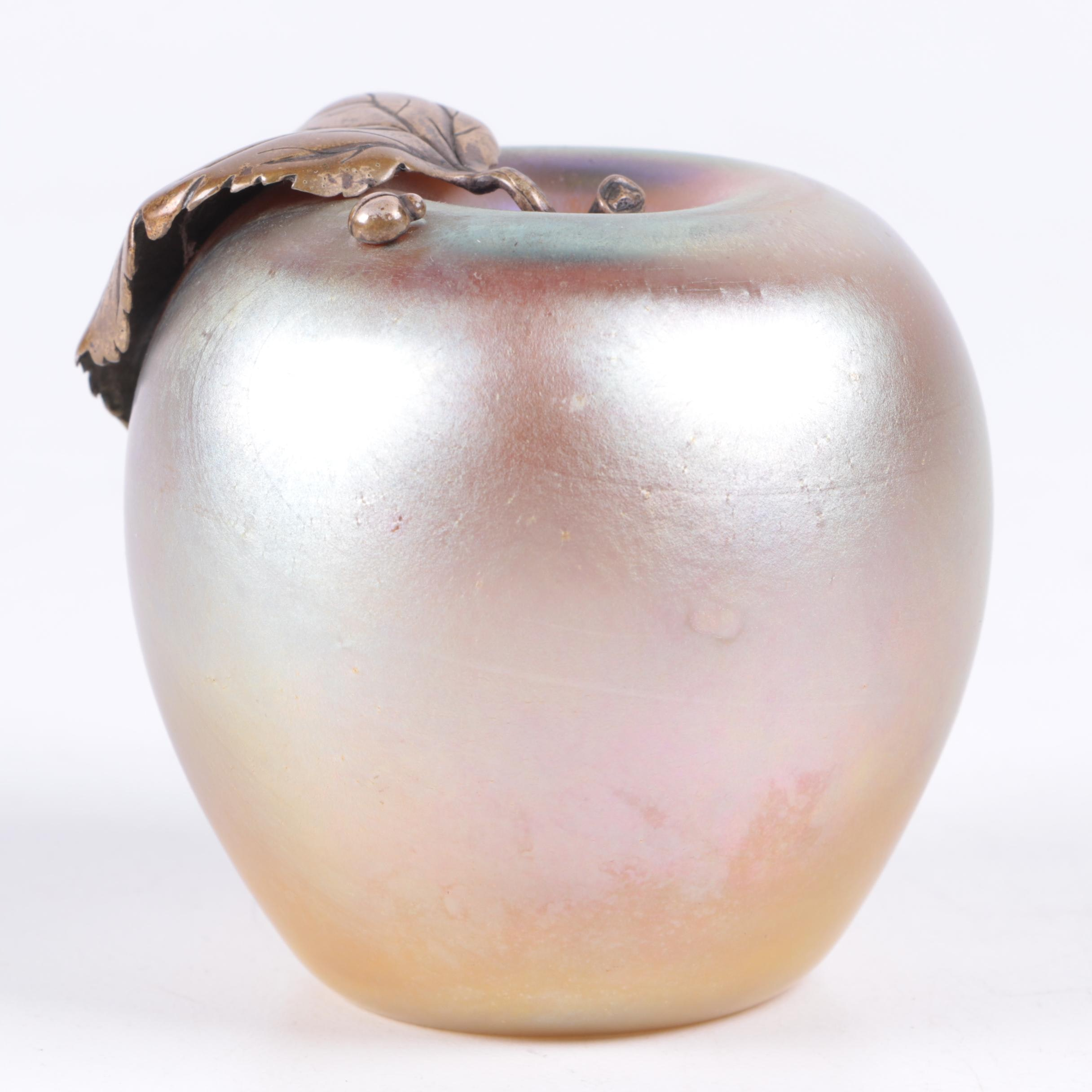 Grant Randolph Studios Glass Apple Paperweight