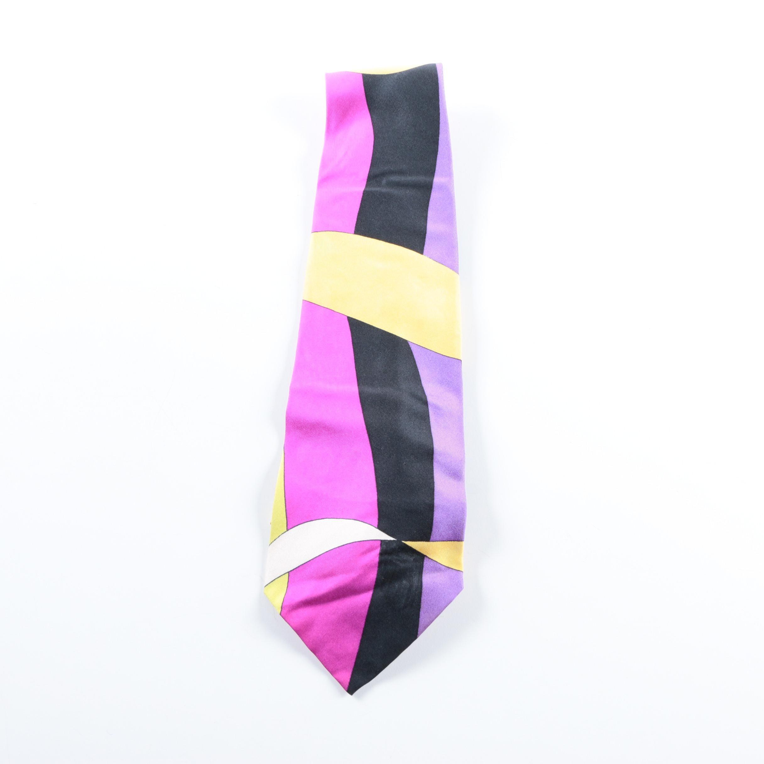 Vintage Emilio Pucci Silk Necktie