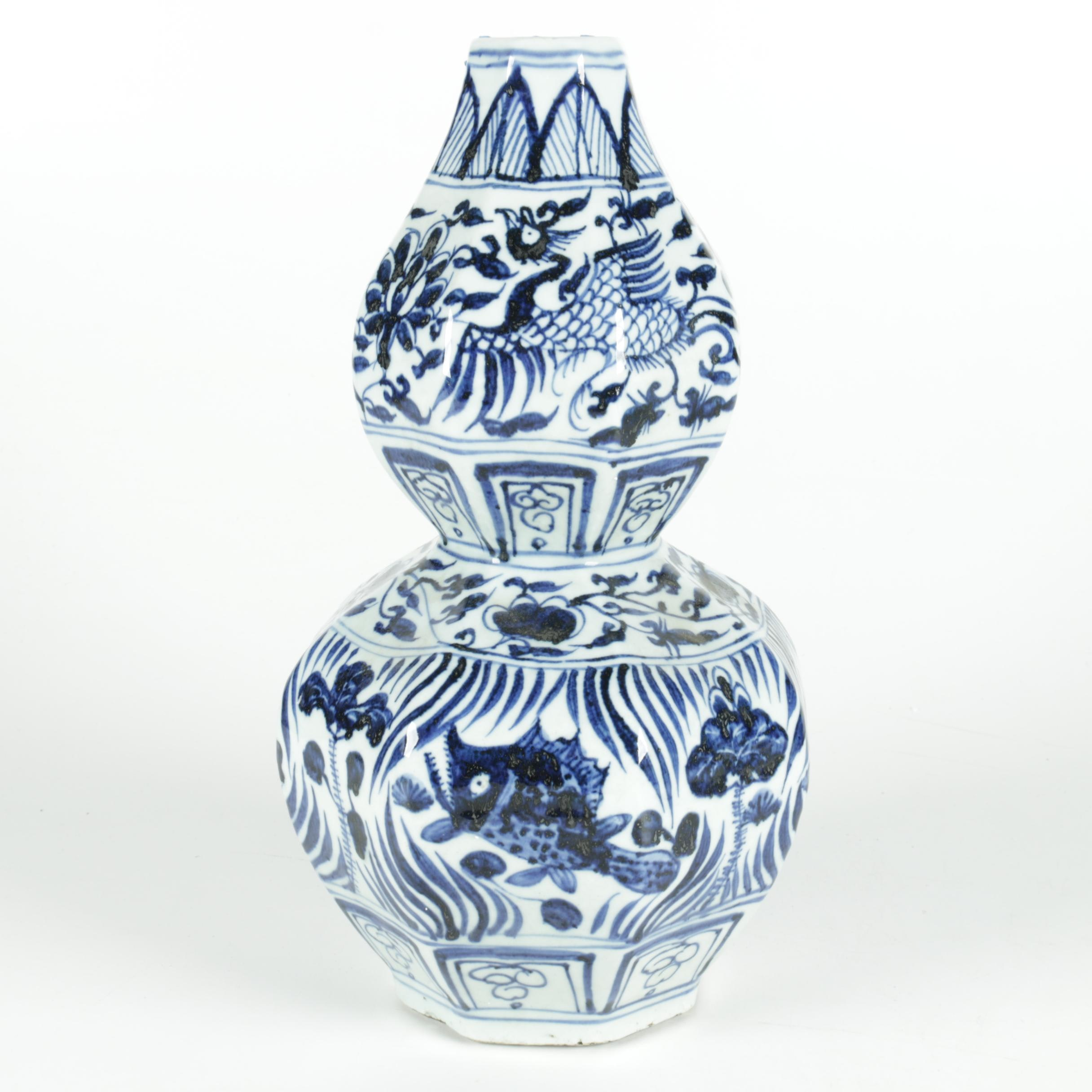 Chinese Ceramic Double Gourd Vase