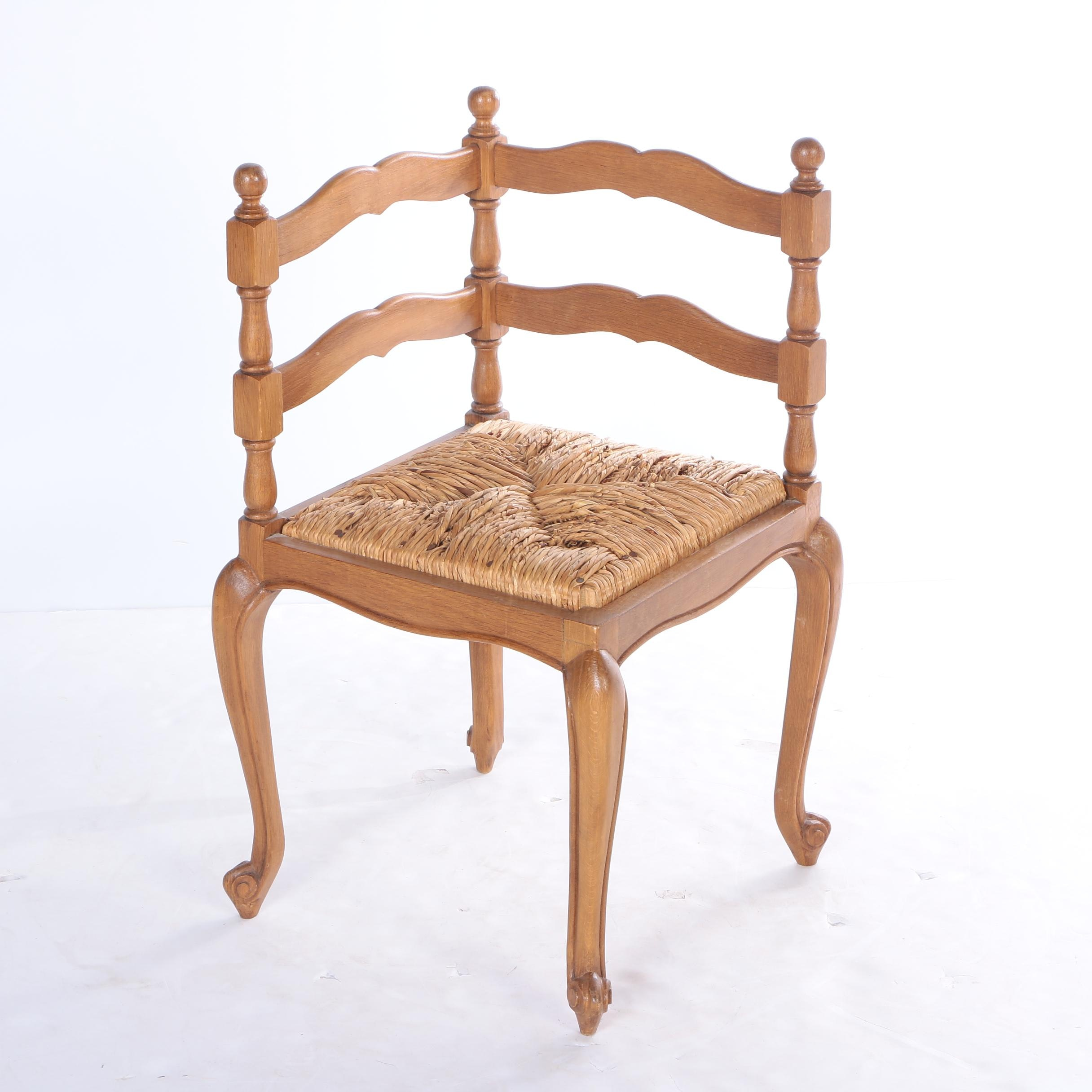 French Provincial Style Corner Chair