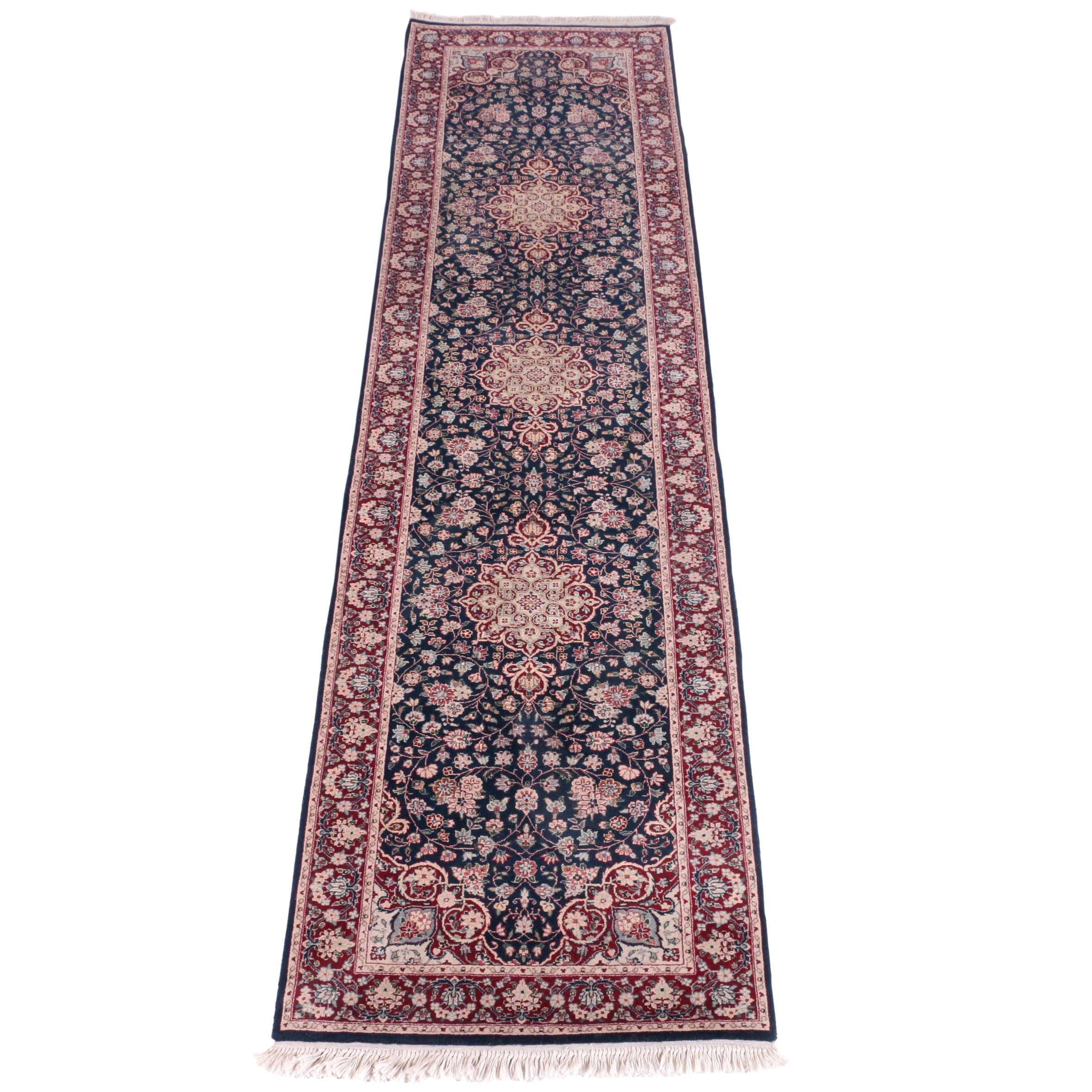 Hand-Knotted Persian Isfahan Carpet Runner