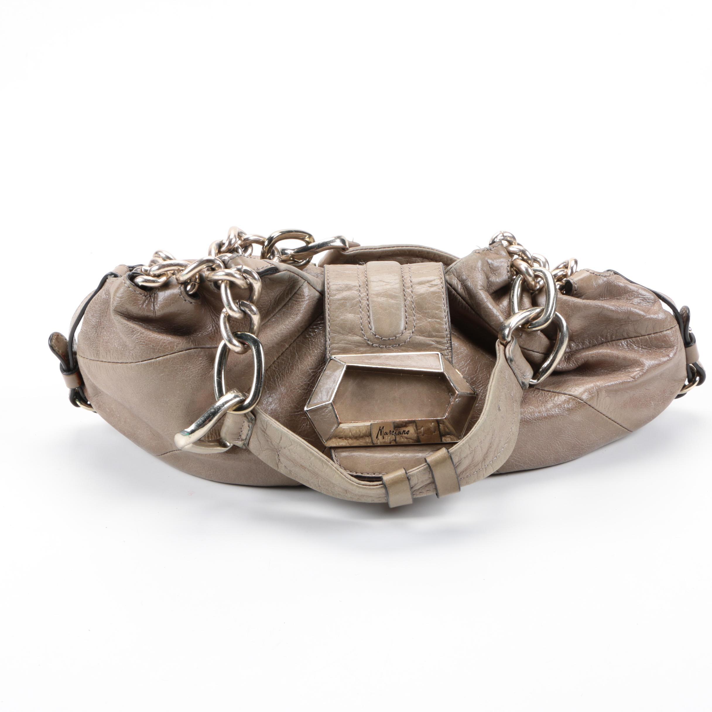 Marciano Grey Leather Handbag