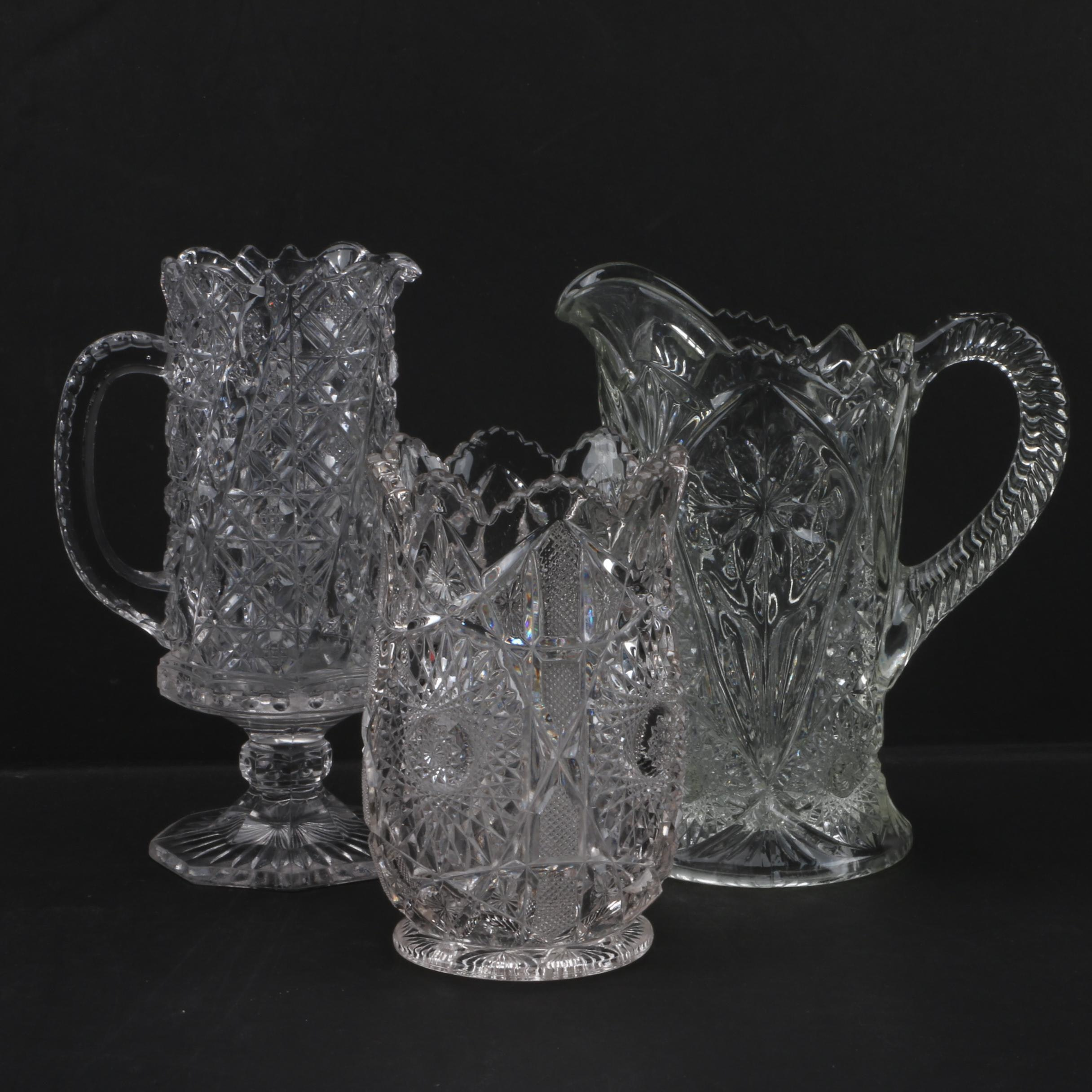 Crystal Pitchers and Vase