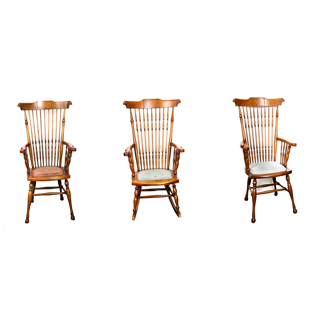 Windsor Armchairs and Rocking Chair