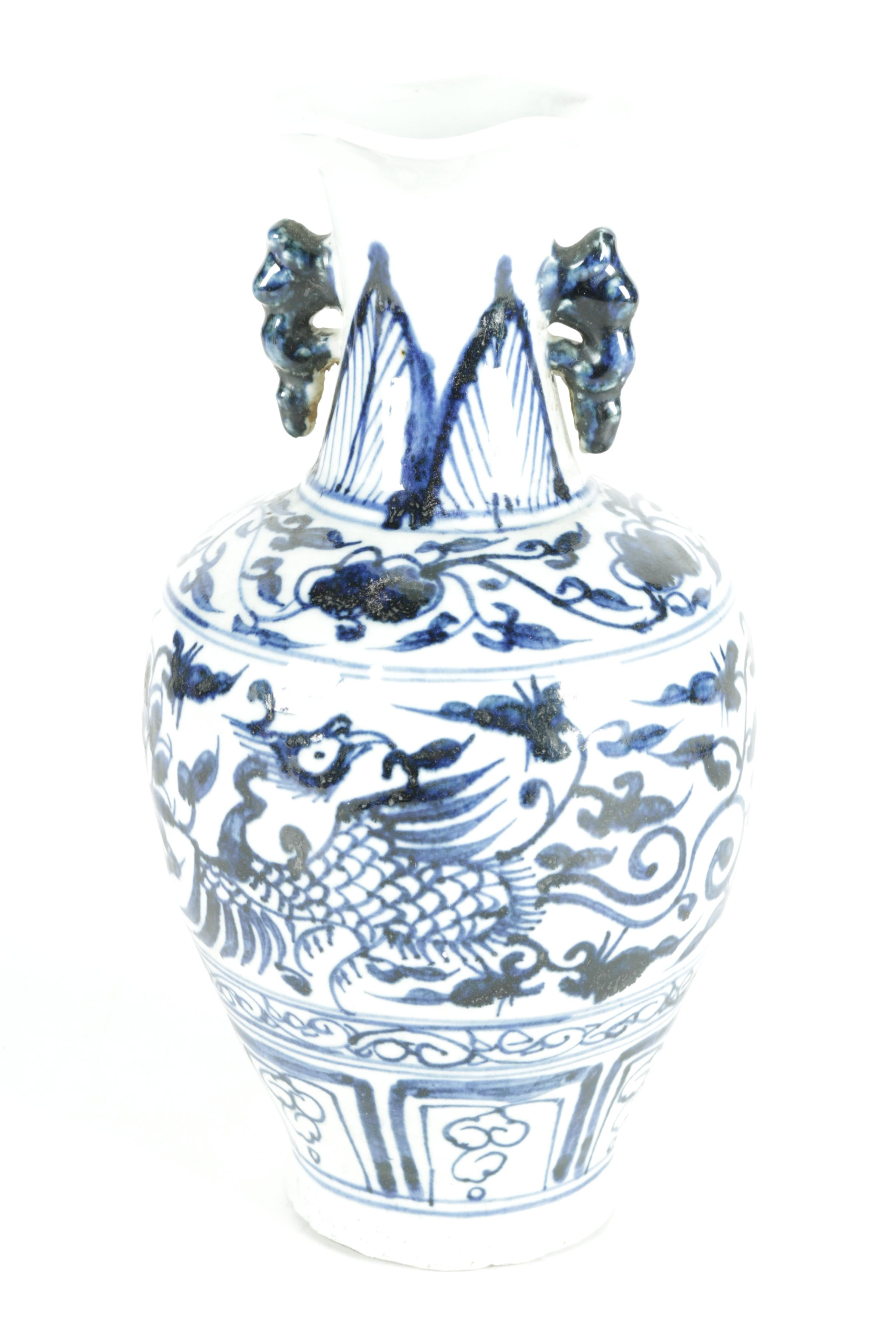 Chinese Blue and White Decorative Vase