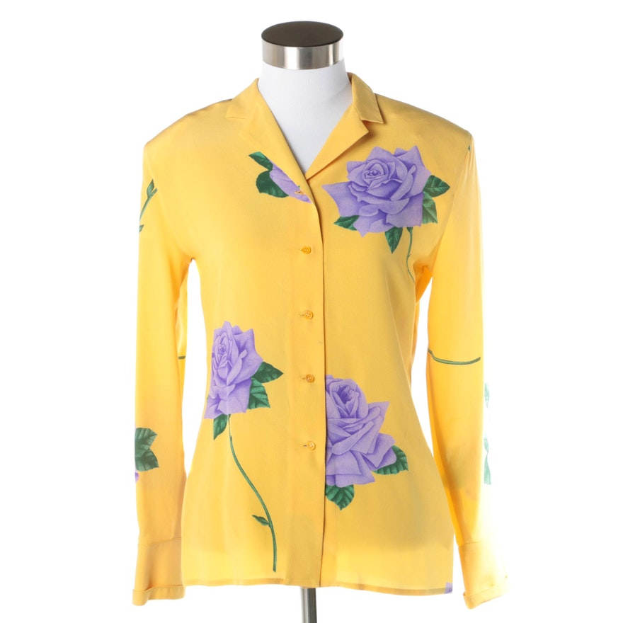 d28971619c3573 Women s Vintage Gianni Versace Silk Blouse   EBTH