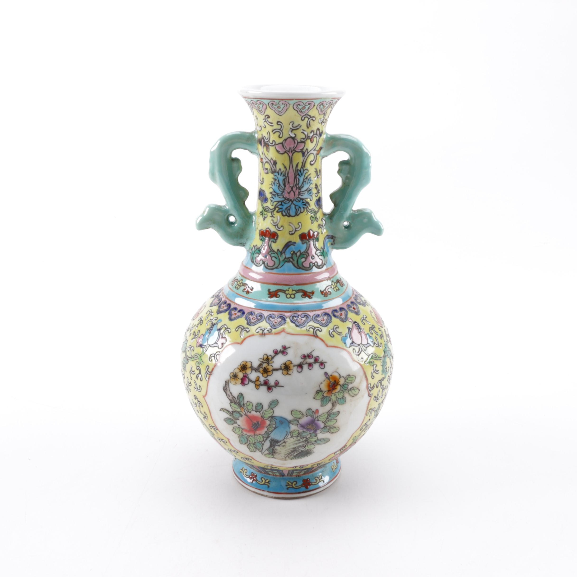 Asian Style Pear Shaped Vase