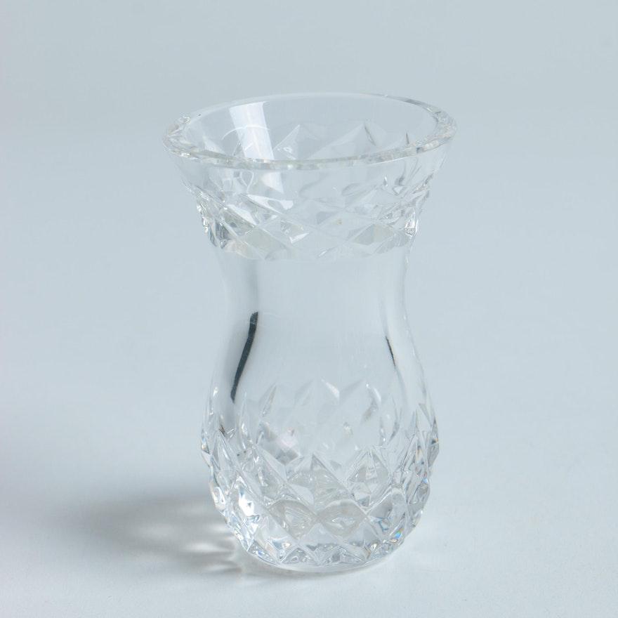 Small Crystal Vase Ebth