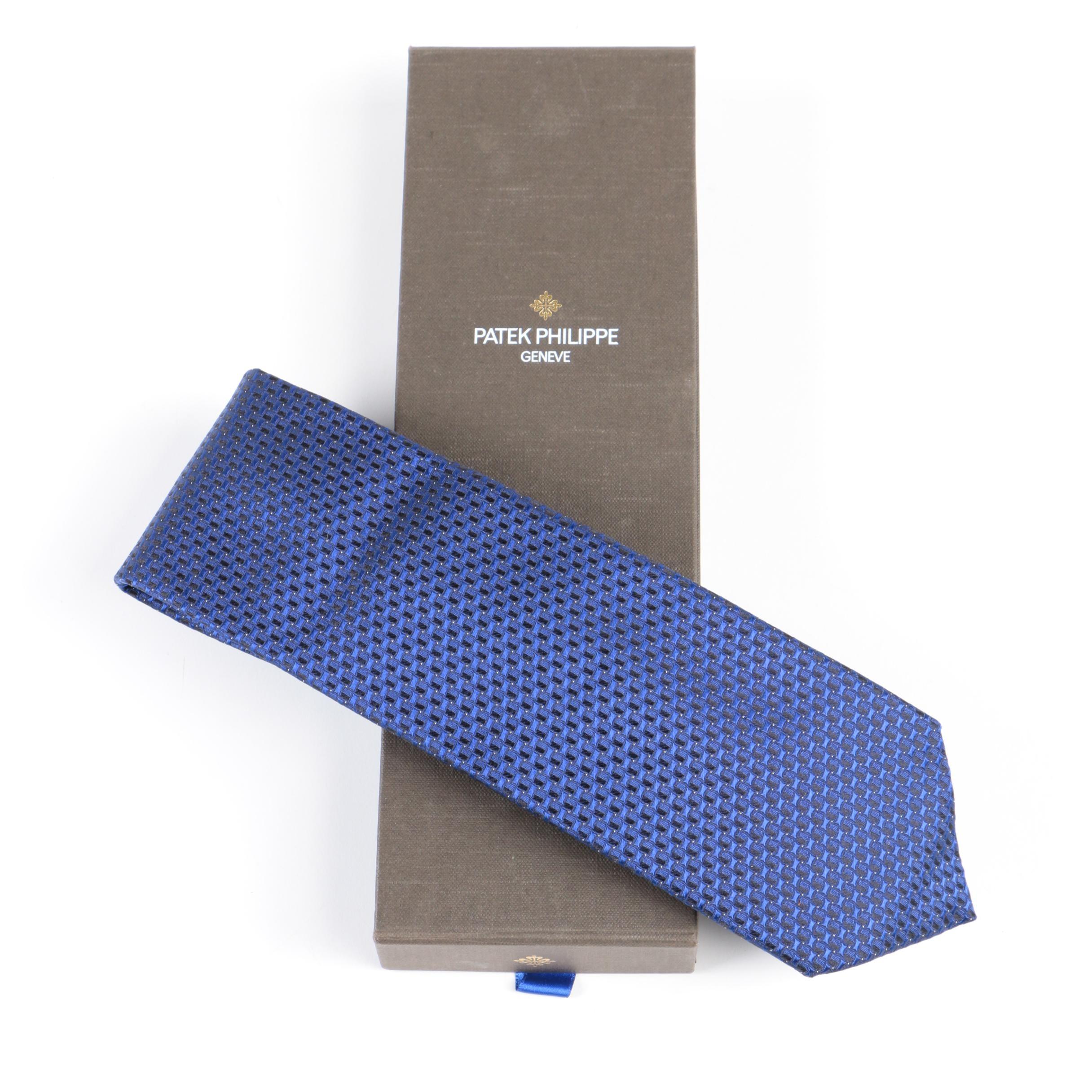 Patek Philippe Geneve Blue Silk Tie
