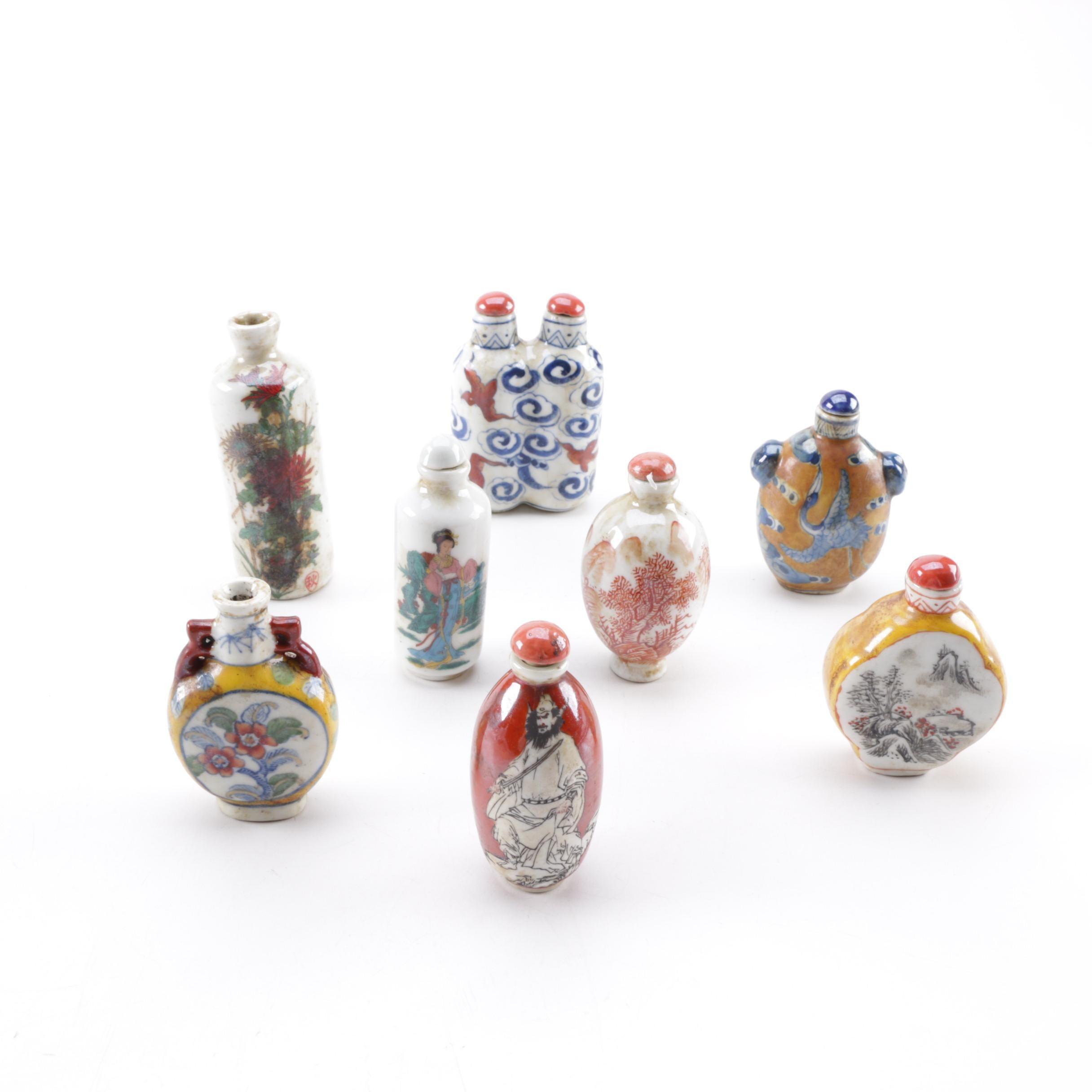 Vintage Chinese Porcelain Snuff Bottles