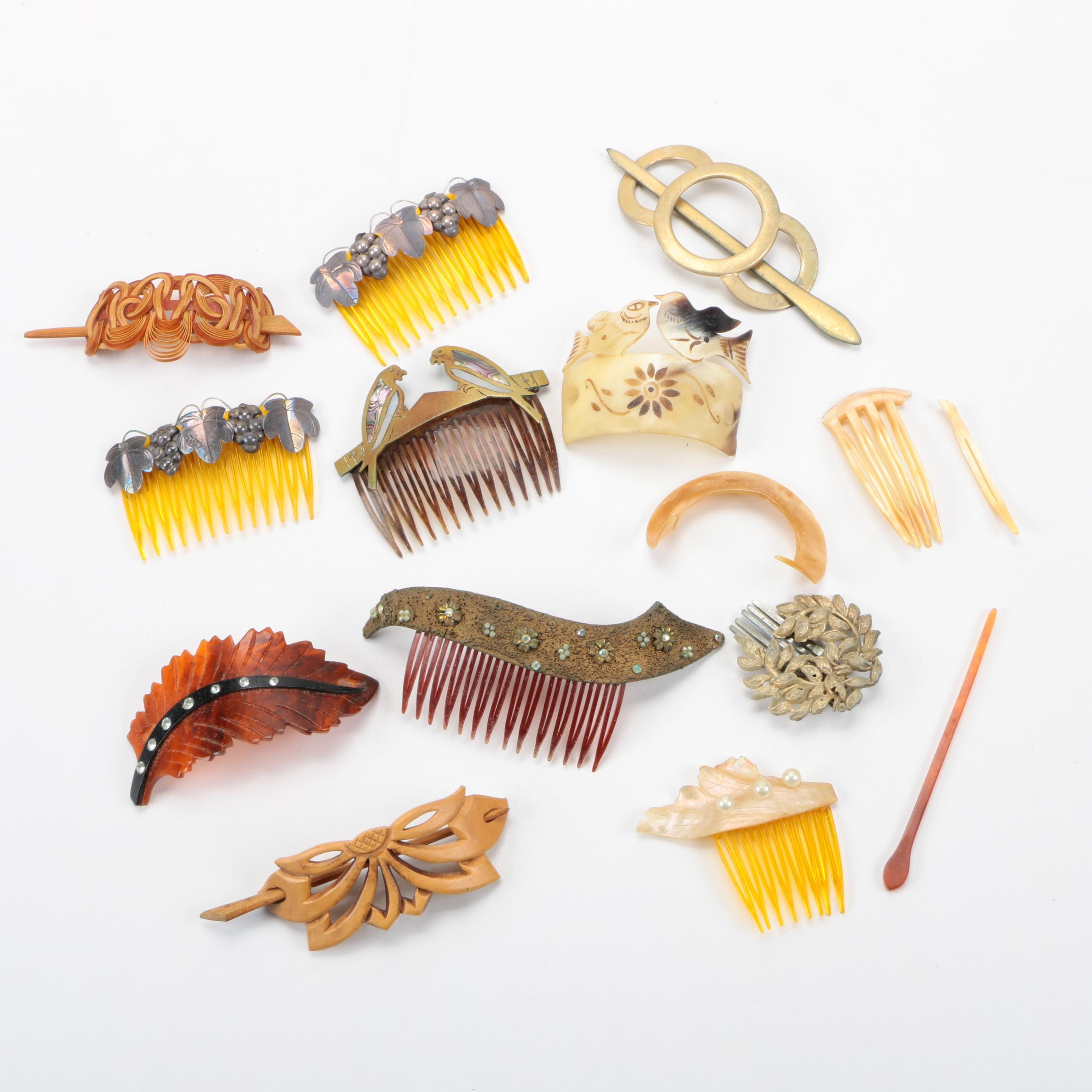 Vintage Hair Combs and Accessories