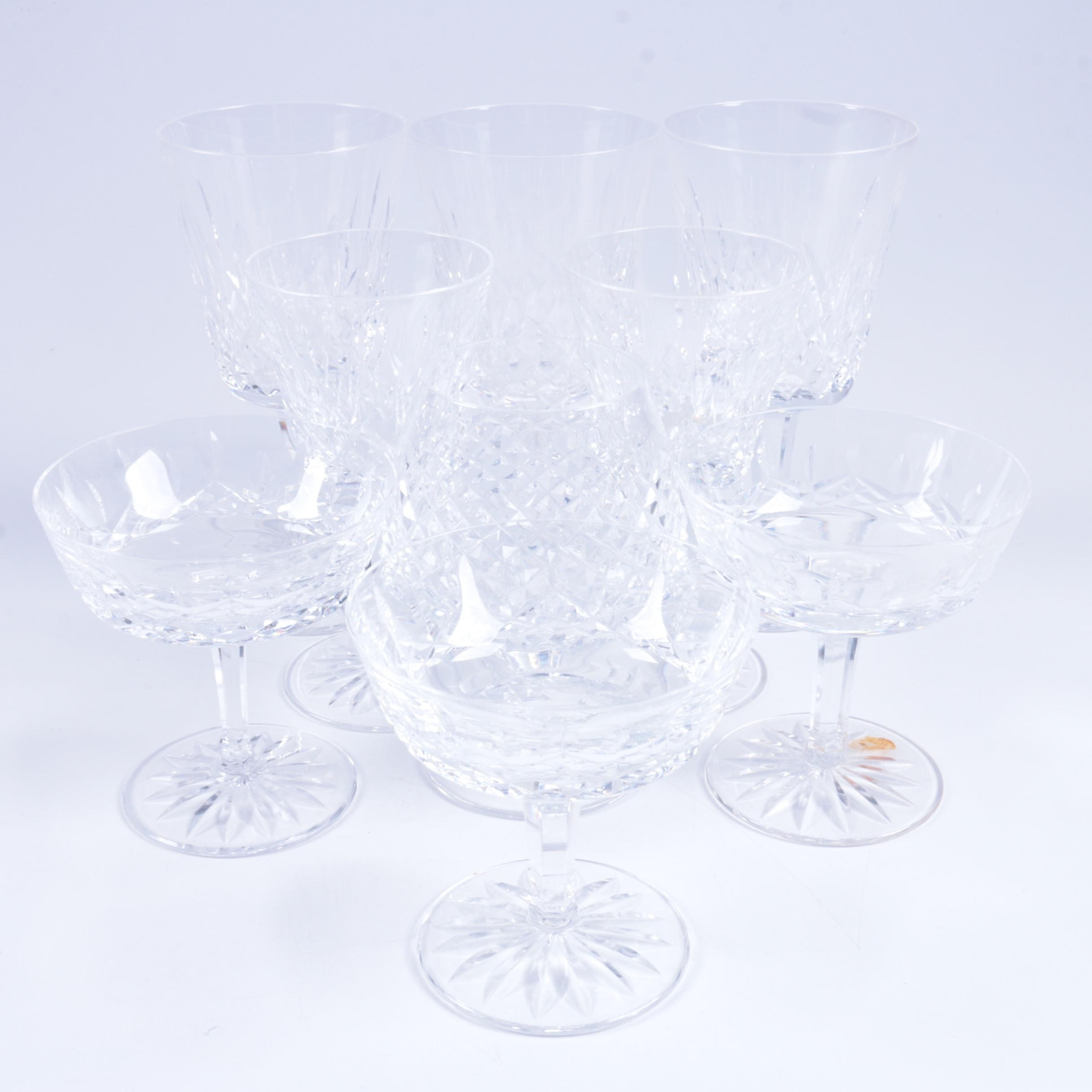 "Waterford Crystal ""Lismore"" and ""Alana"" Glasses"