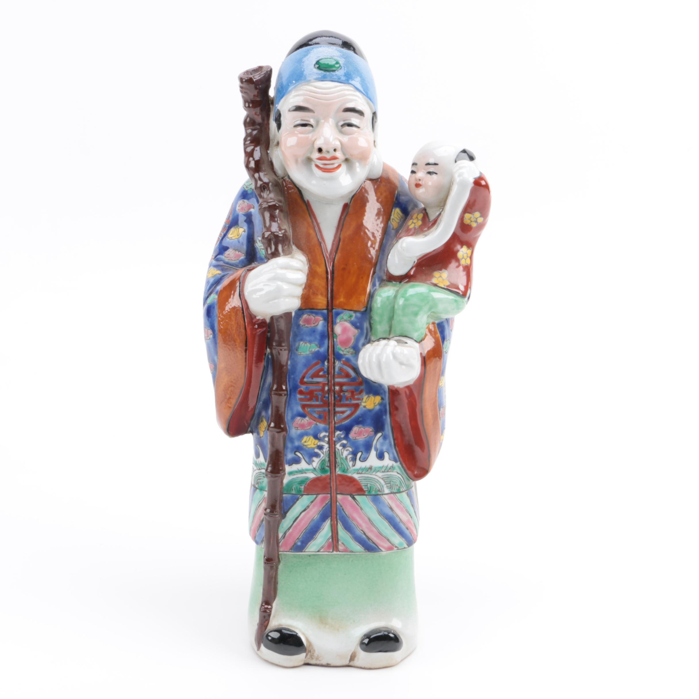Chinese Figure with Child