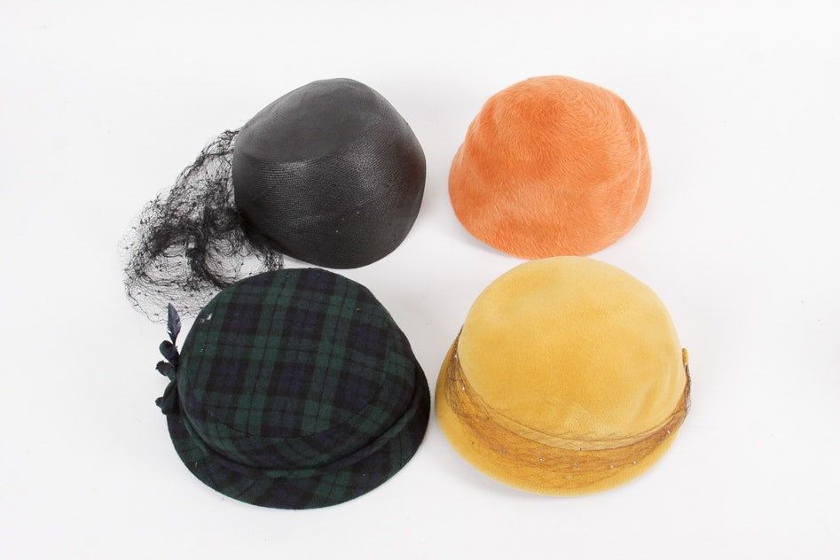 Women's Vintage Hats Including French Room