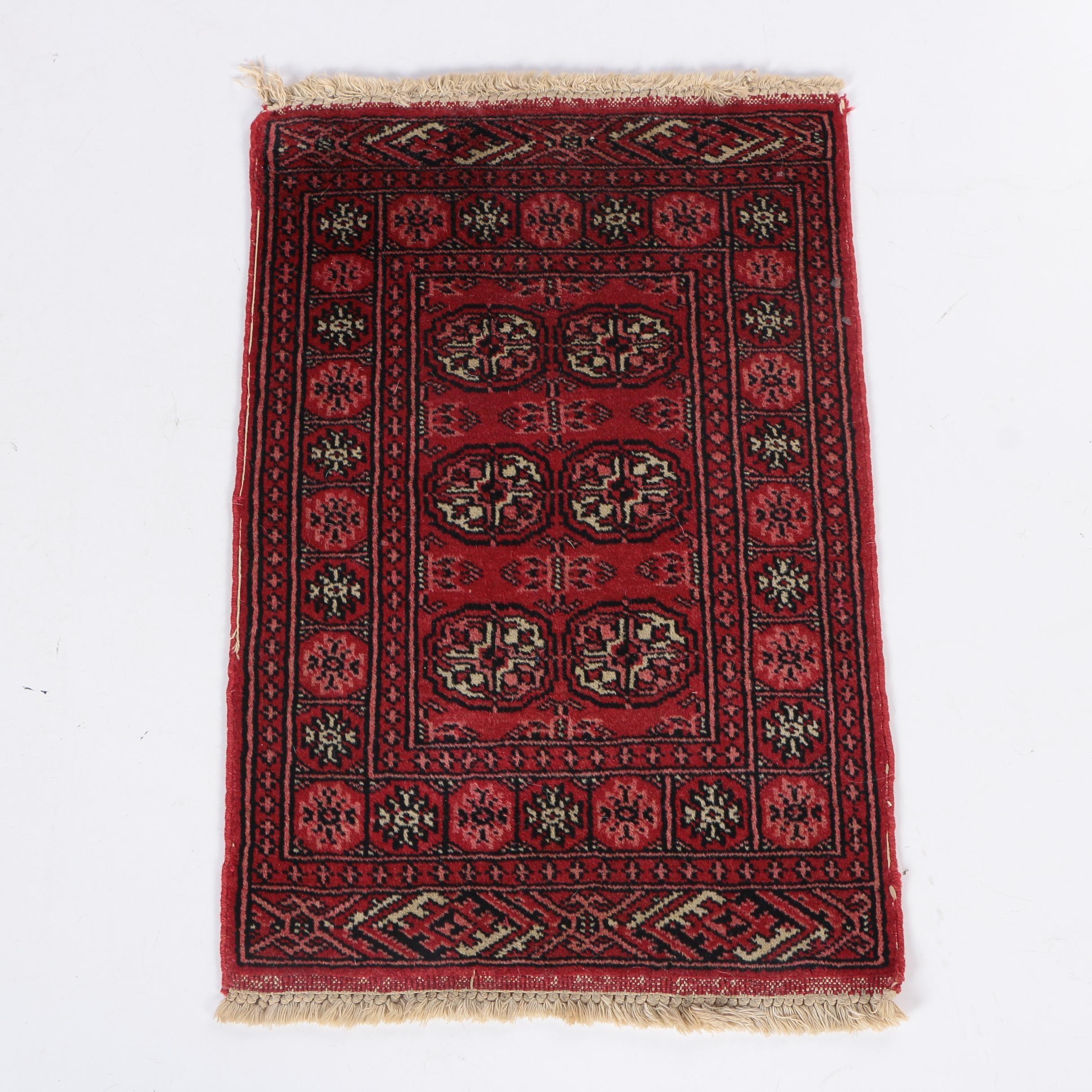 Hand-Knotted Bokhara Wool Mat