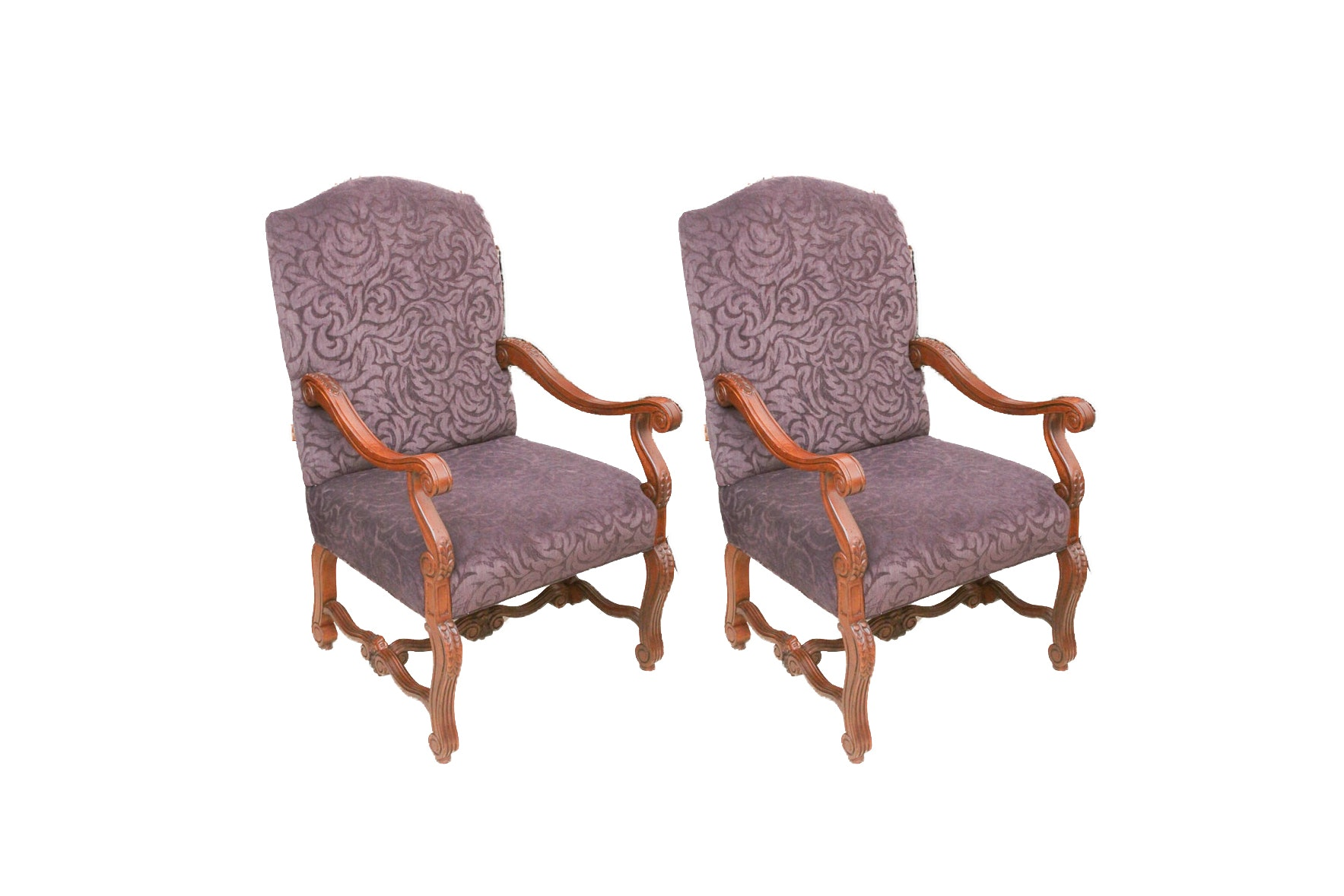 Renaissance Style Armchairs by Sam Moore Furniture