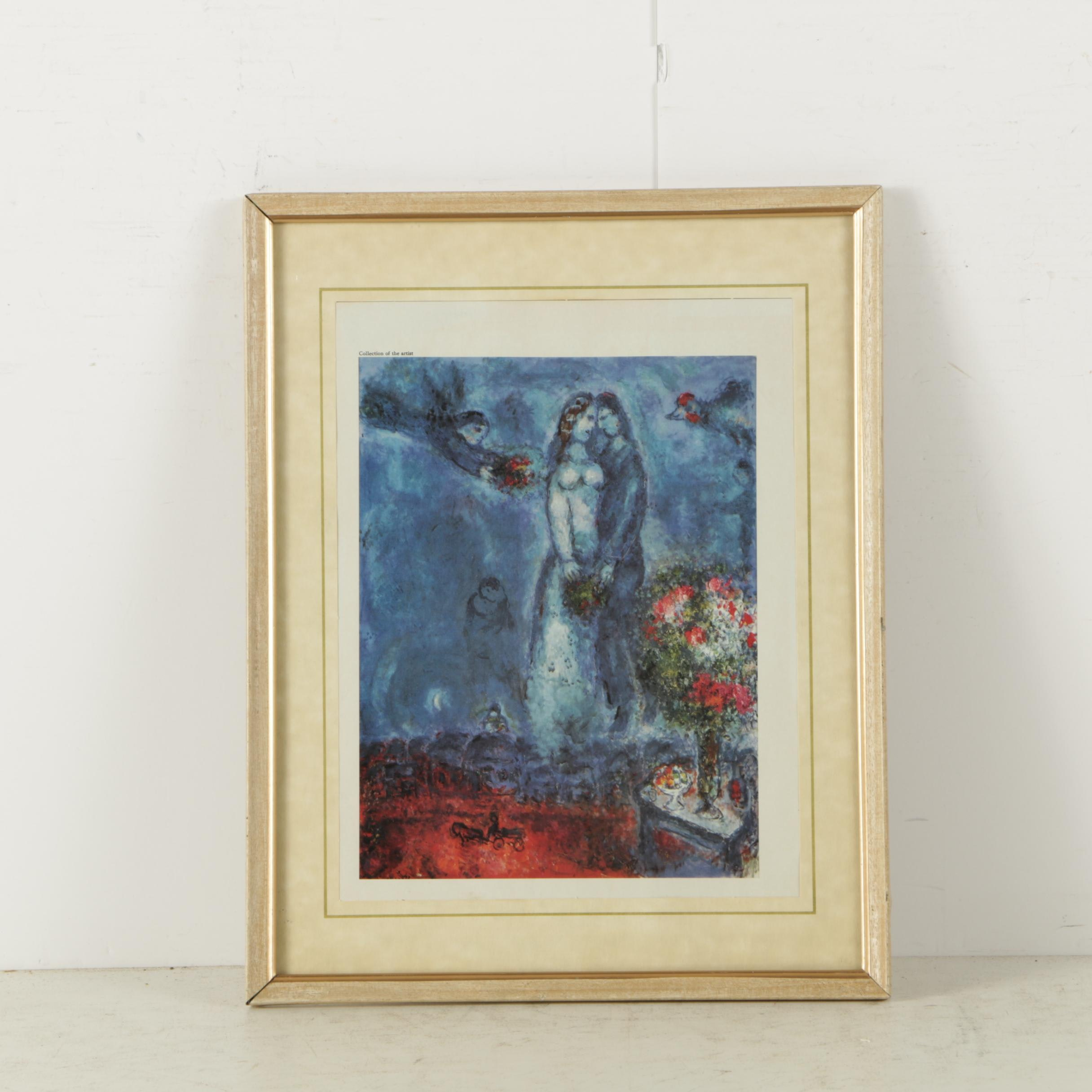 """Reproduction Print on Paper After Marc Chagall """"Le Songe"""""""