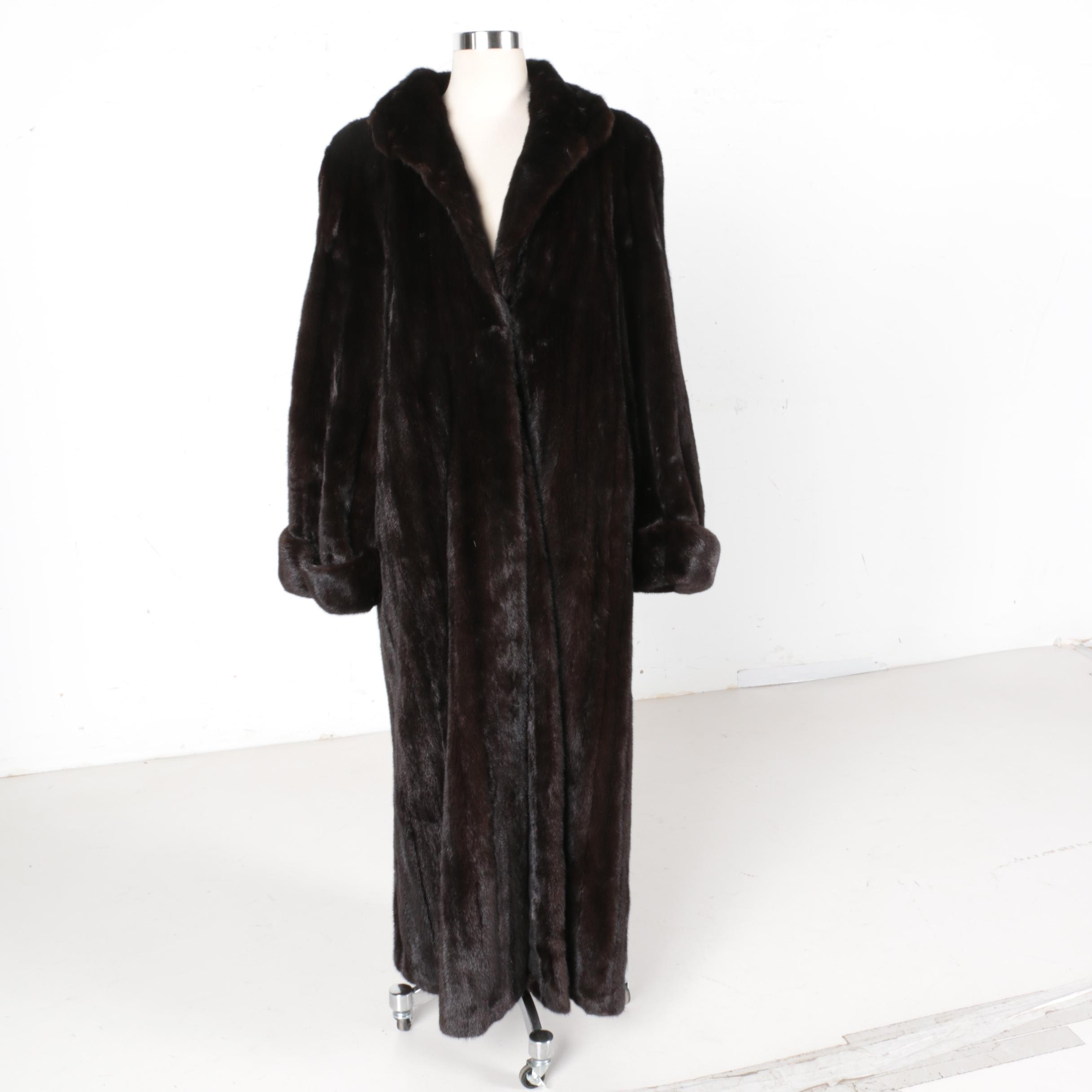 Dittrich Chocolate Mink Fur Coat