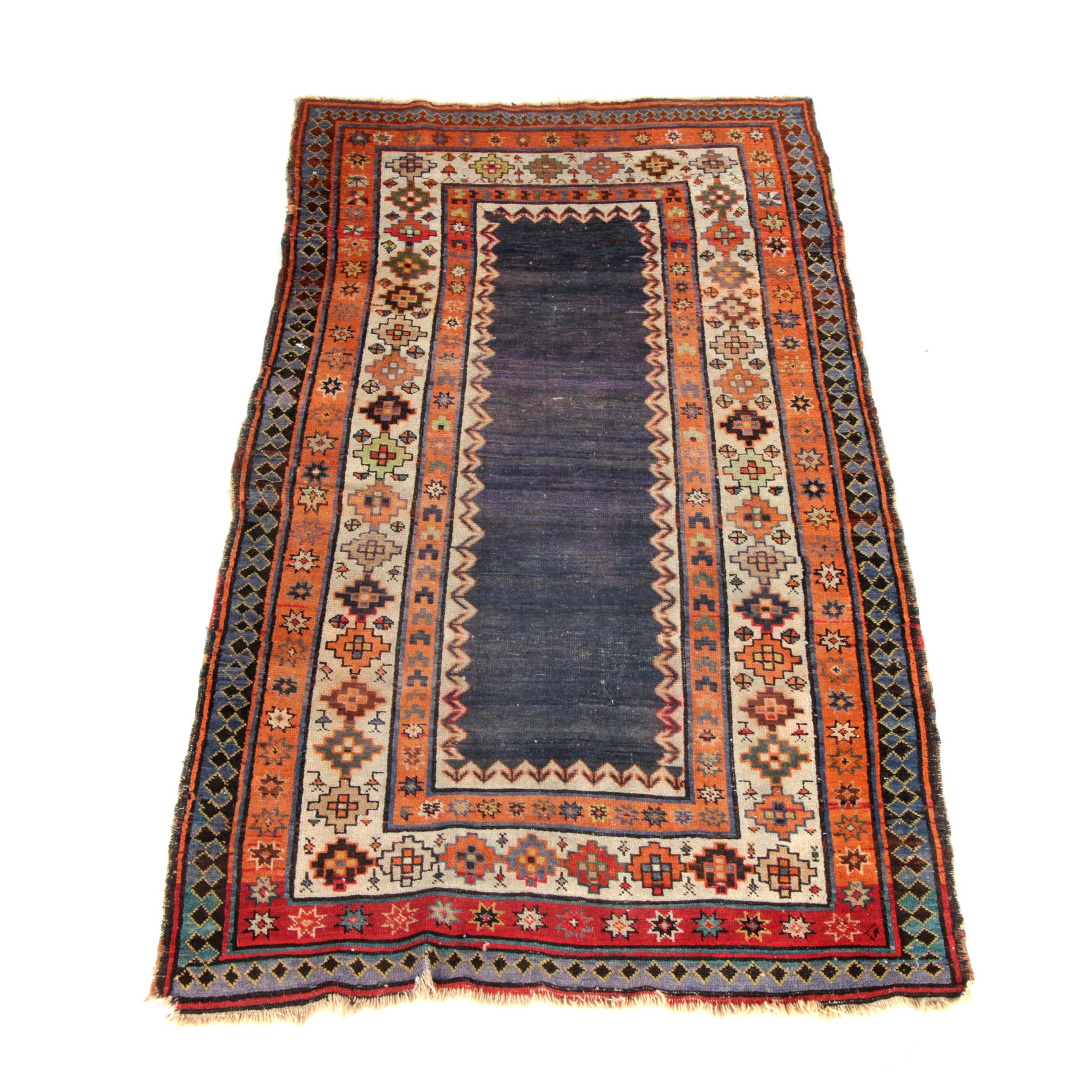 Antique Hand-Knotted Talish Caucasian Area Rug