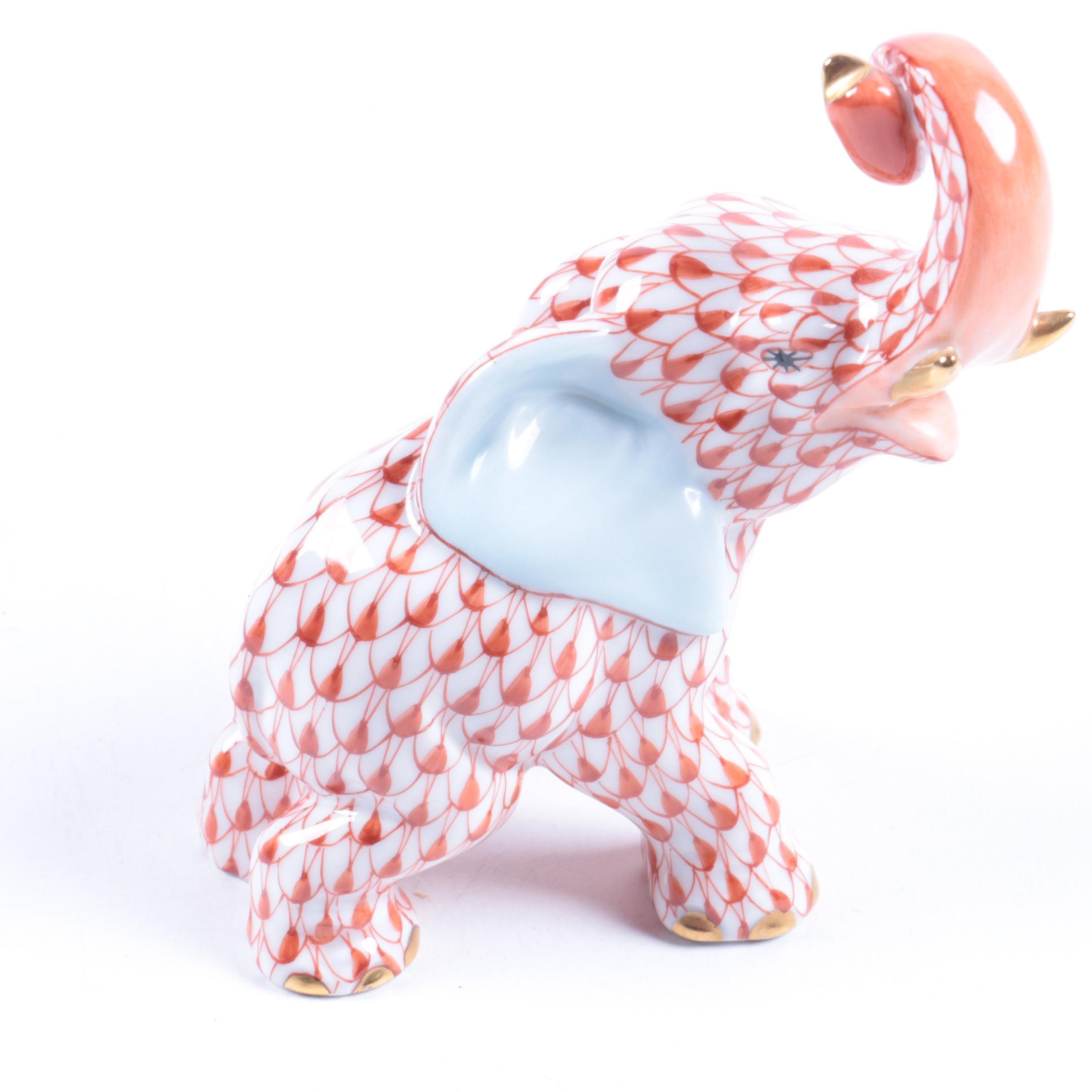Herend Hungary Porcelain Elephant