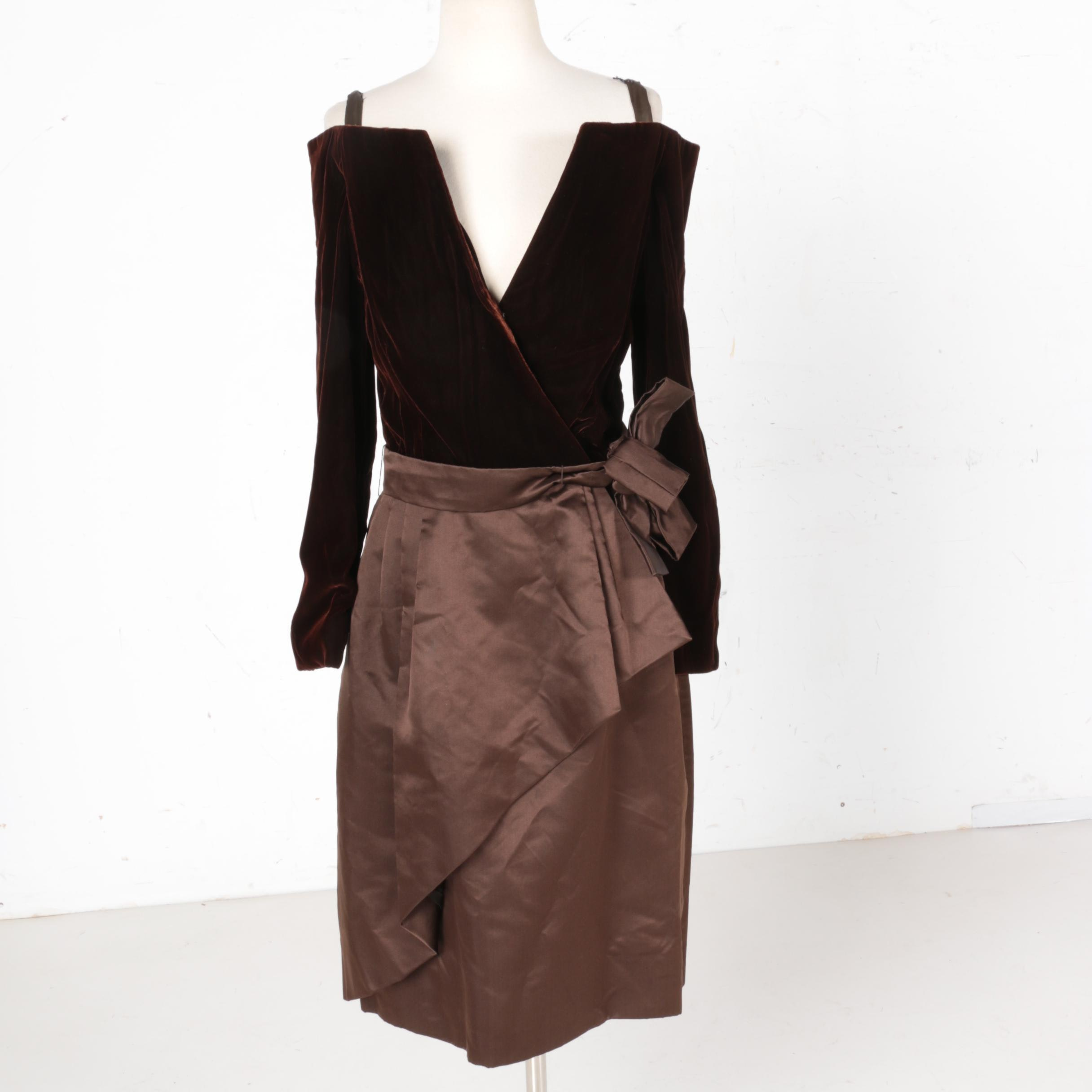 Vintage 1970s Scaasi Boutique Evening Dress