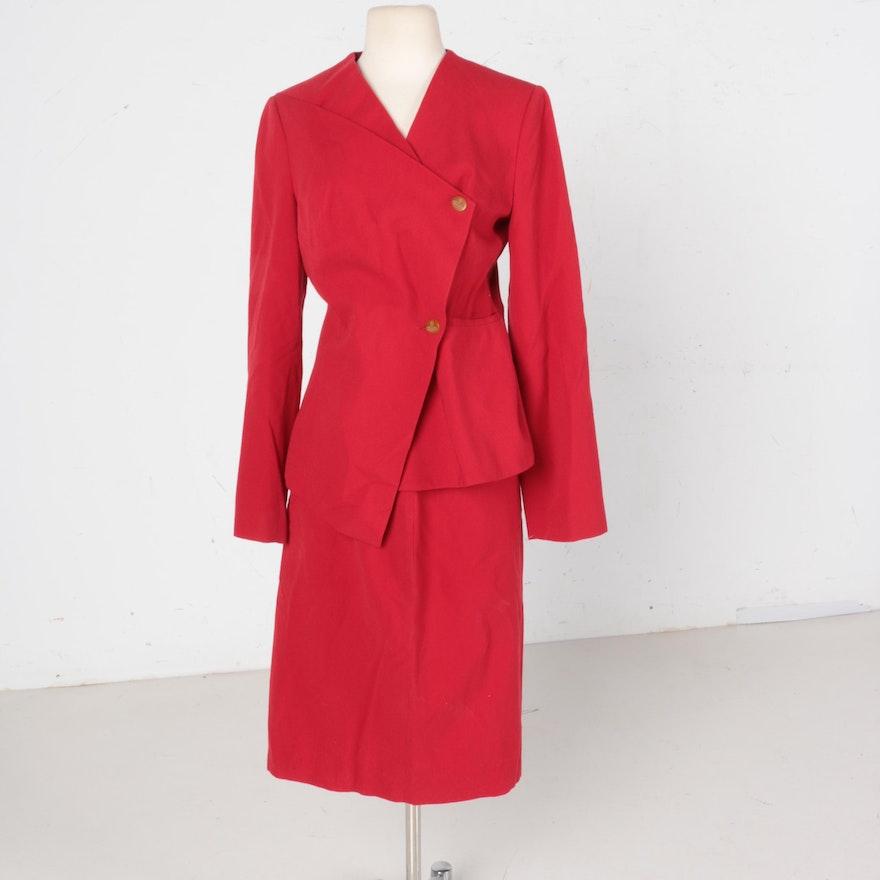 0bc1cf382c Vintage Vivienne Westwood Red Label Red Wool Skirt Suit : EBTH
