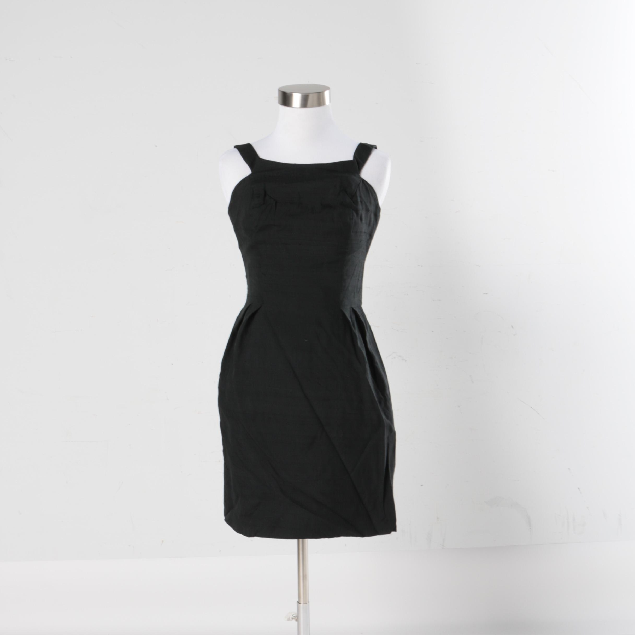 1970s Vintage Estévez Black Sleeveless Dress